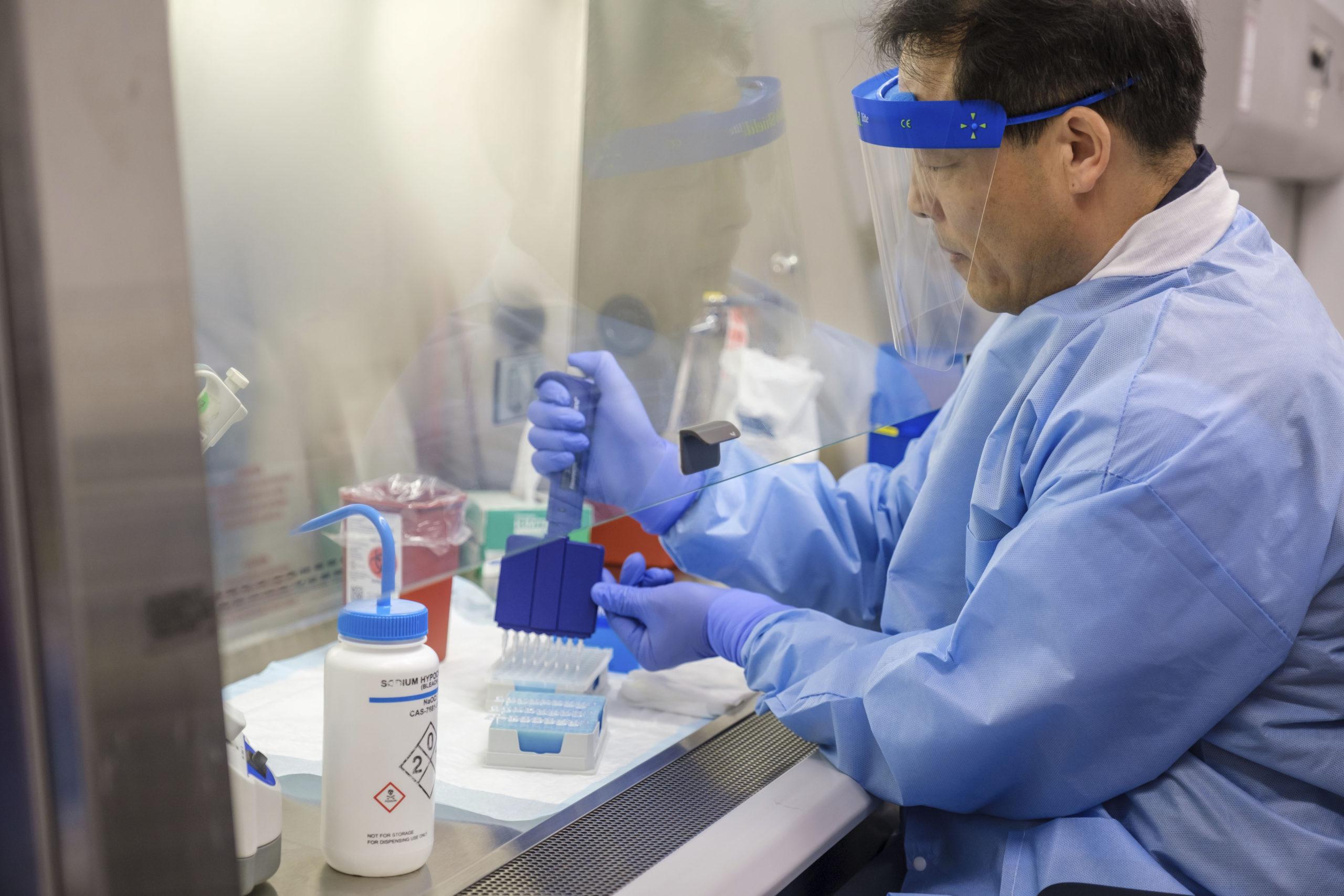 Research scientist Wei Zhen at Northwell Labs.    LEE S. WEISSMAN