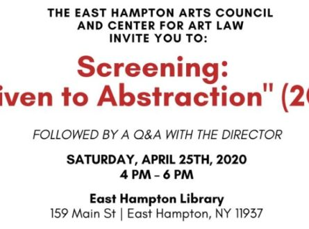 """Film Screening: """"Driven to Abstraction'"""" followed by Q/A with film director Daria Price"""