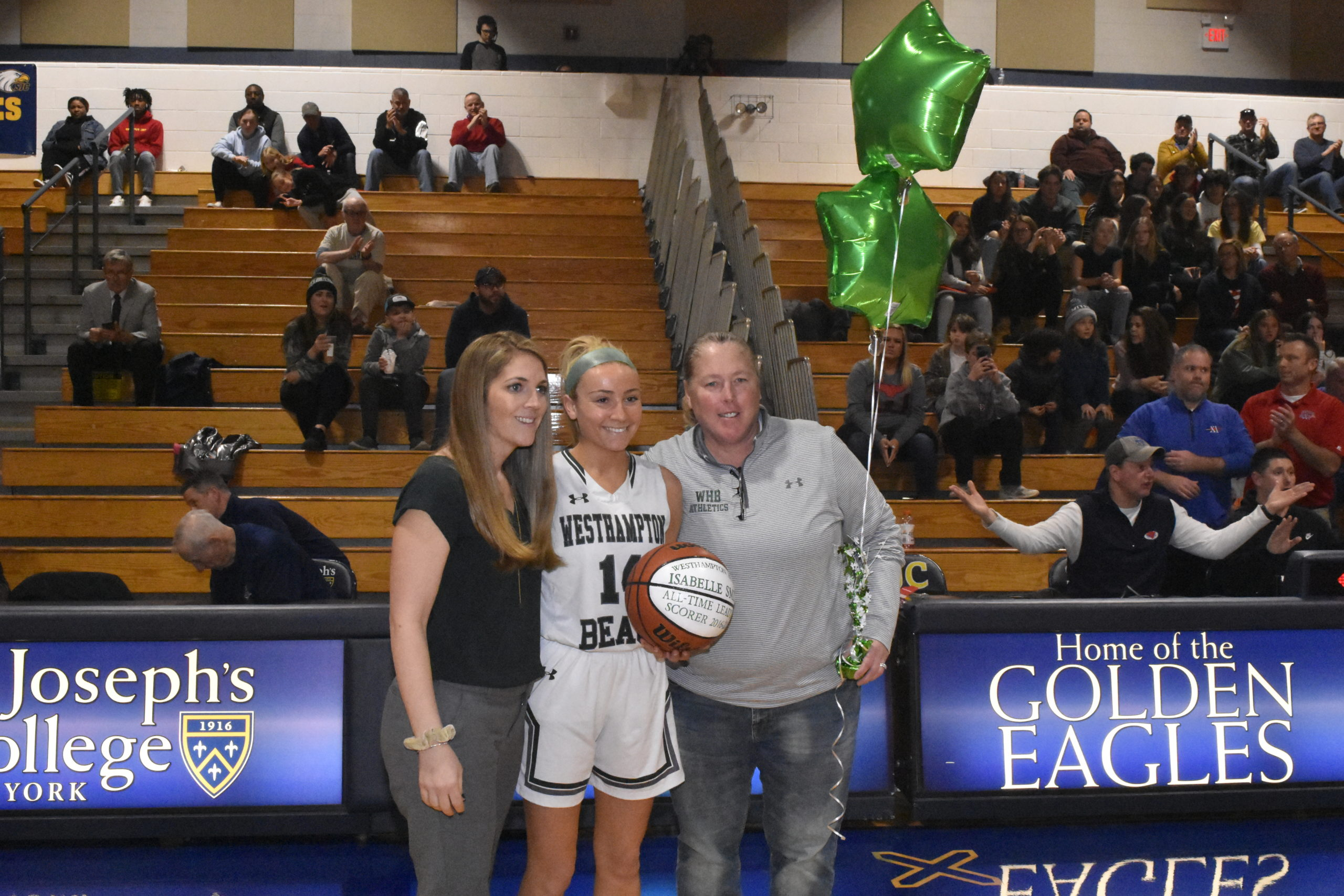 Westhampton Beach Athletic Director Kathy Masterson, right.