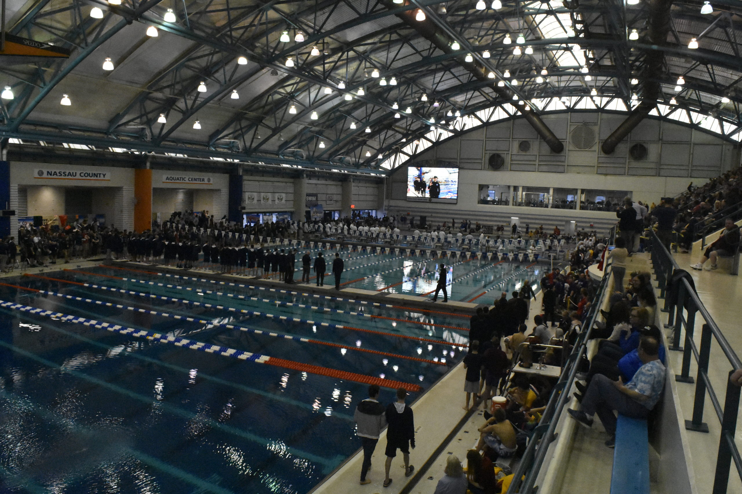 The New York State Swimming Championships were held at the Nassau County Aquatic Center in East Meadow on Friday and Saturday.