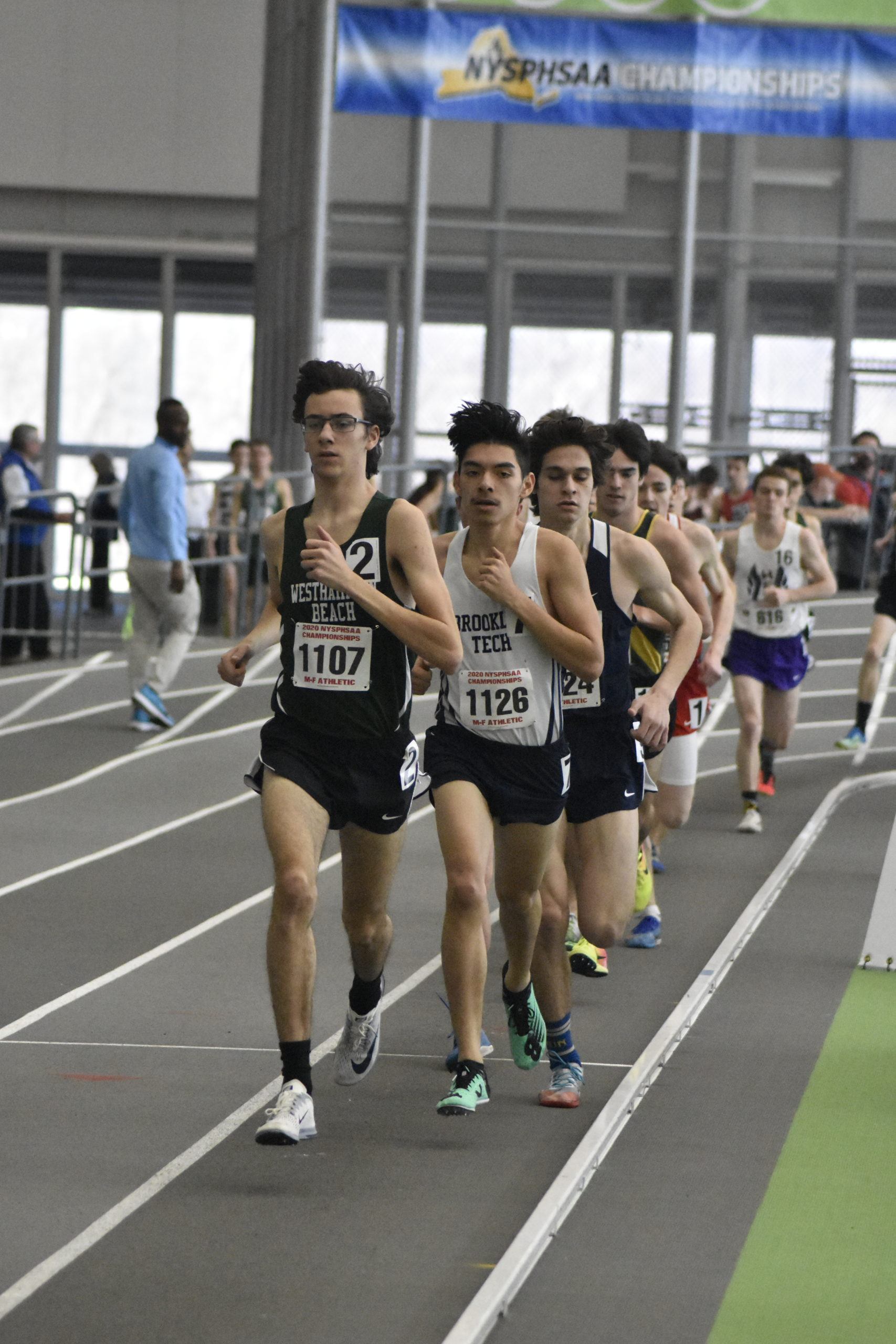 Westhampton Beach sophomore Gavin Ehlers is set to begin the 3,200-meter race at the New York State Indoor Track and Field Championships on Saturday.