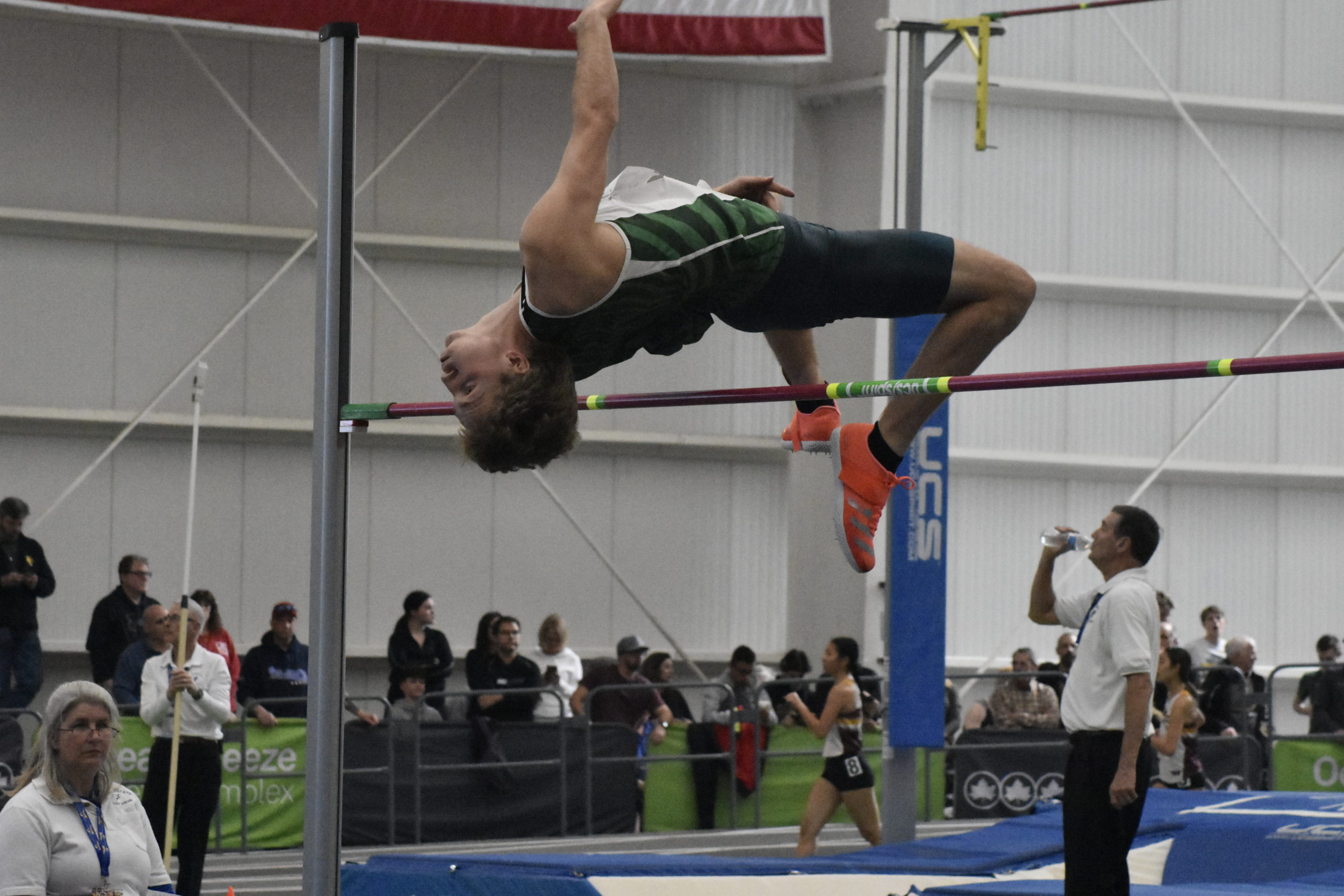Westhampton Beach senior Jack Meigel cleared 6 feet 6 inches to place third in the state.