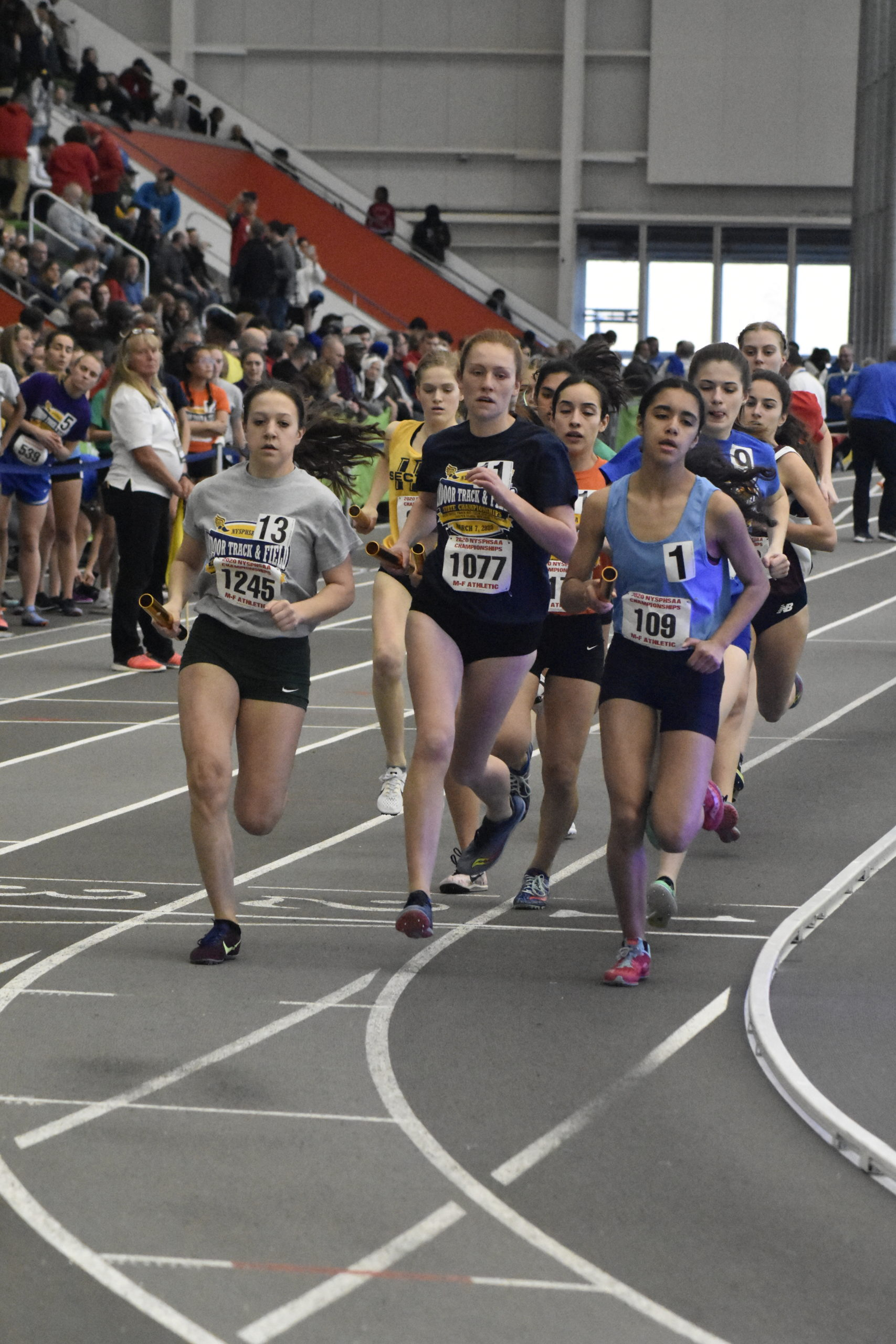 Westhampton Beach junior Jackie Amato was the lead runner for Section XI's intersectional distance medley relay team.