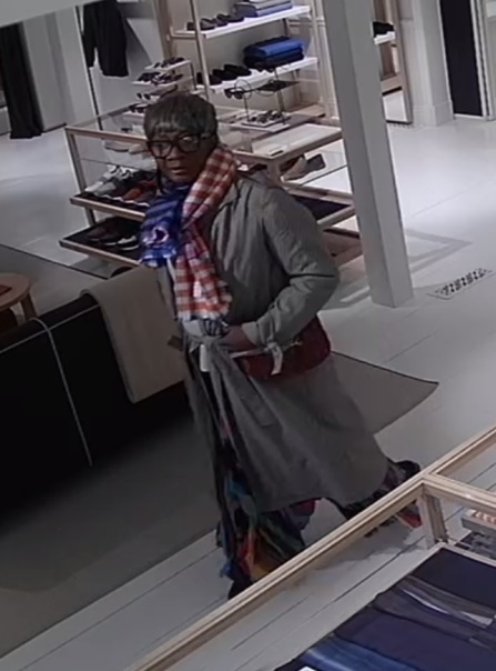 Police are looking for information on this woman, who they say stole a cashmere coat from an East Hampton Village store in early March.