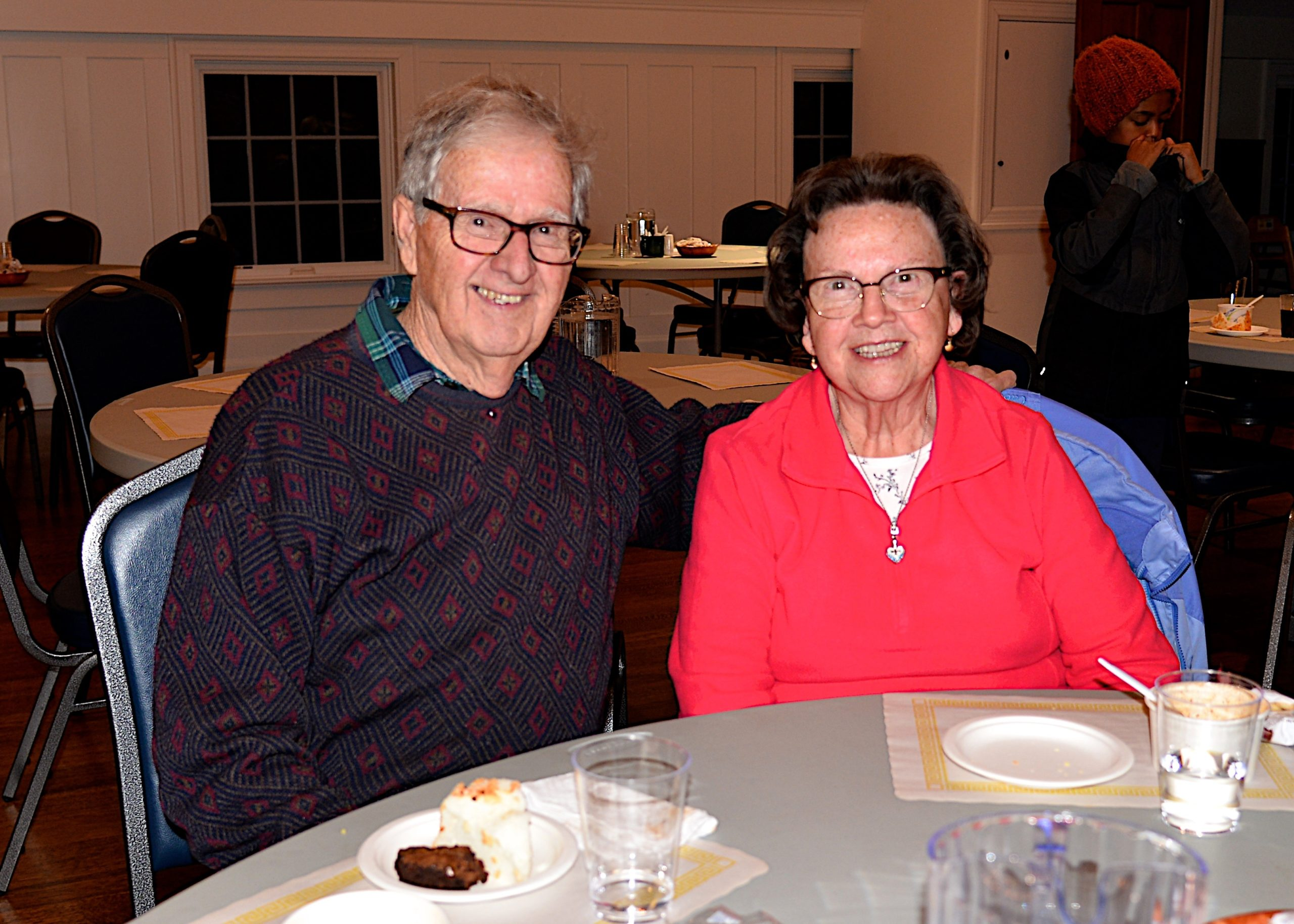The deacons of the Amagansett Presbyterian Church hosted a Soup and Chili dinner on Saturday. Reverend Rob Stuart and Mary Vorpahl at the event. KYRIL BROMLEY