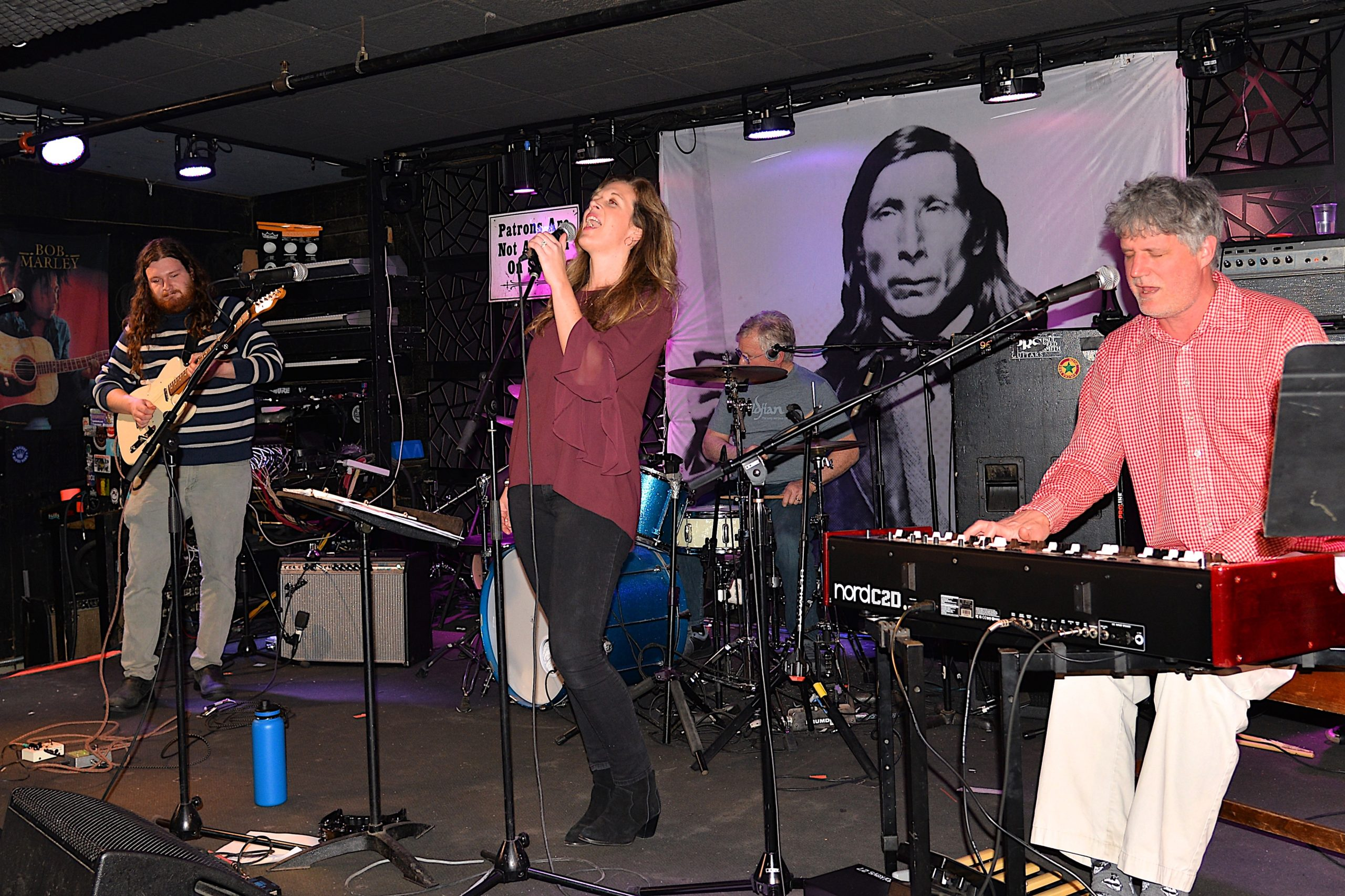 The Rum Hill Rockers performed on Thursday at Rock the Retreat, held at the Stephen Talkhouse in Amagansett. Proceeds will go to The Retreat and its programs to assist victims of domestic violence. KYRIL BROMLEY