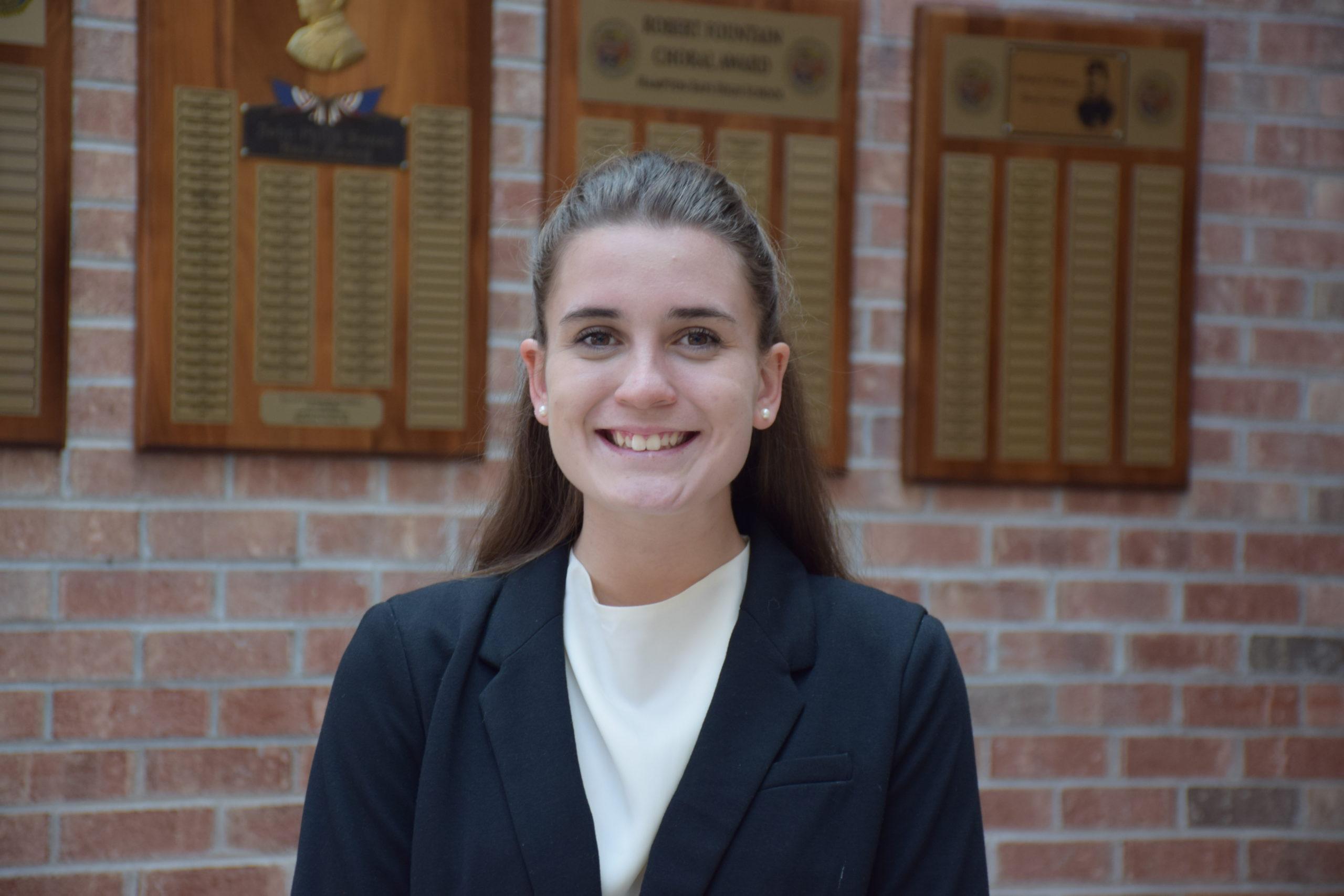 Lily Candelaria has been named Hampton Bays High School's Class of 2020 salutatorian.