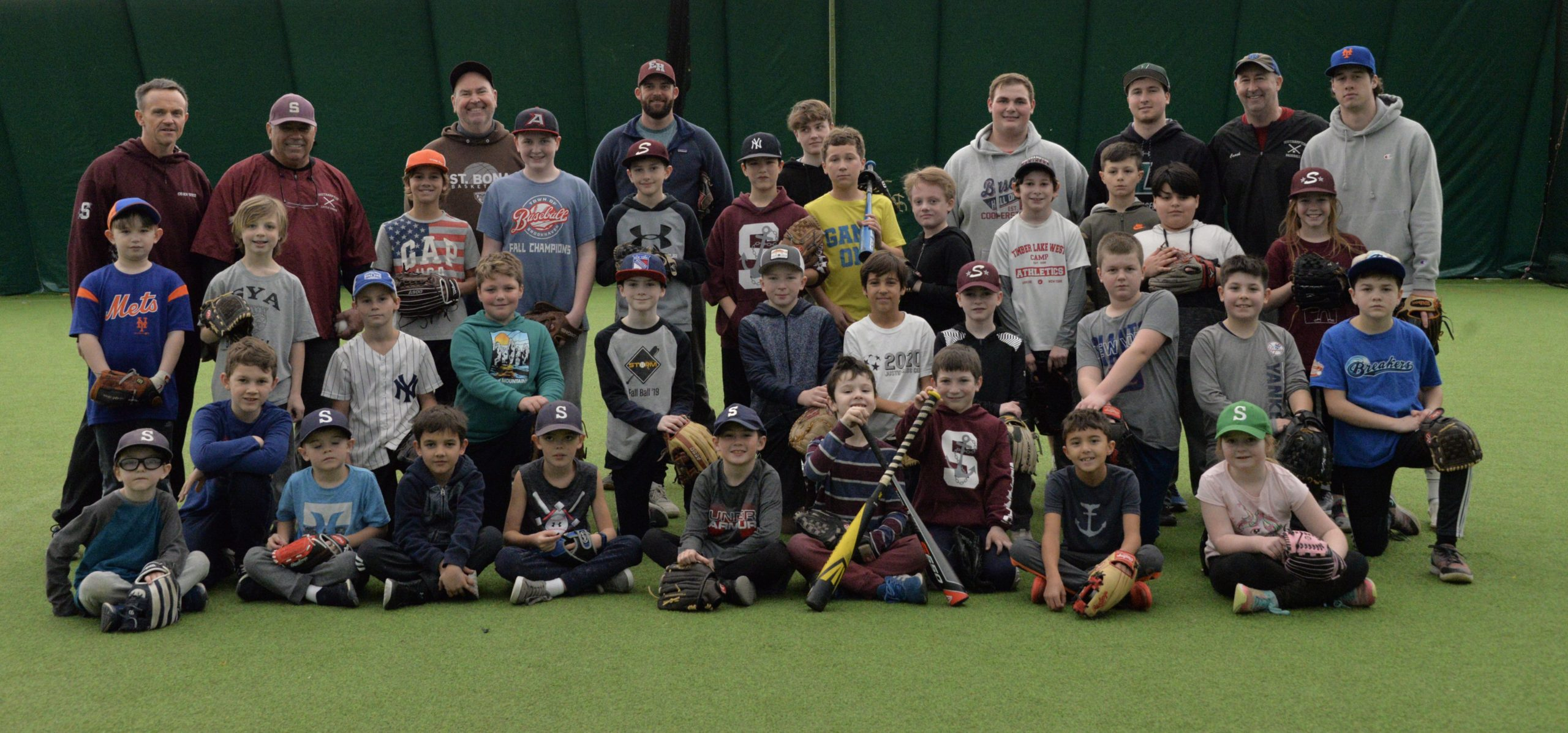 Boys and girls are getting ready for a new season of Southampton Little League by participating in winter clinics. MICHELLE MALONE