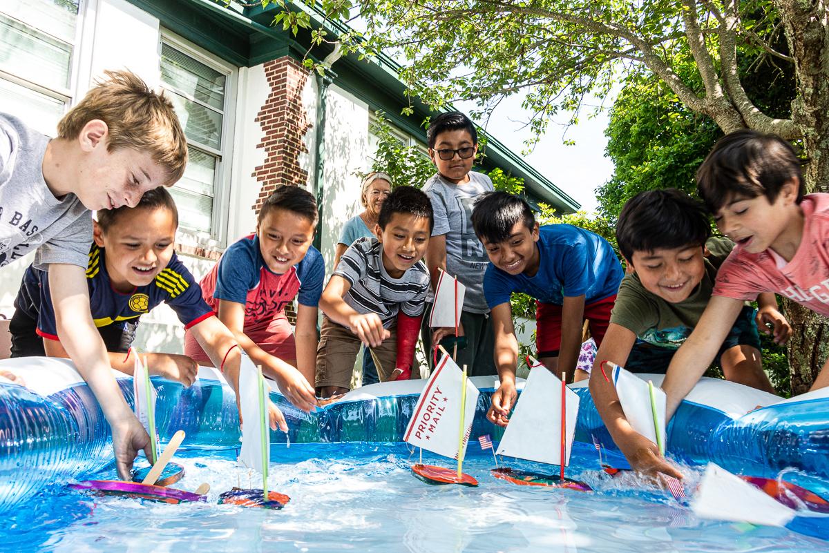Springs School students testing the waters.