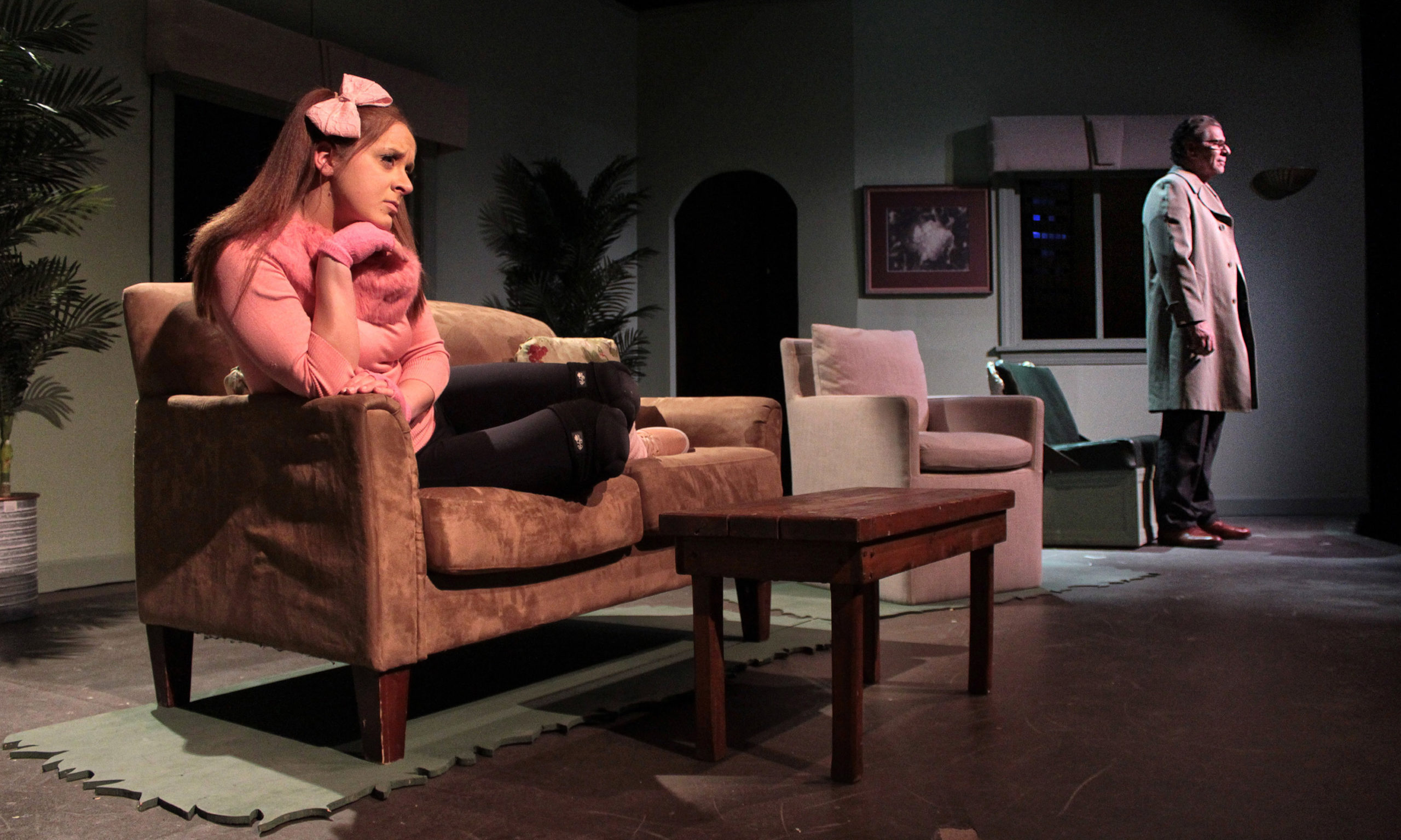 Amanda Griemsmann plays Sylvia and Edward Kassar plays her new adoptive owner, Greg, in the Hampton Theatre Company production of A.R. Gurney's