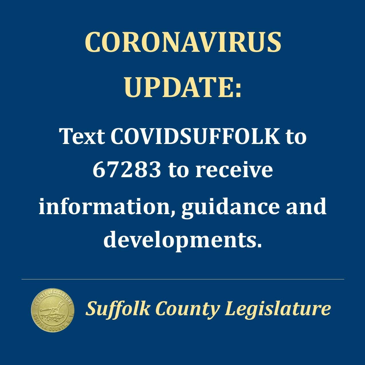 County officials encourage residents to text to get the latest  updates.