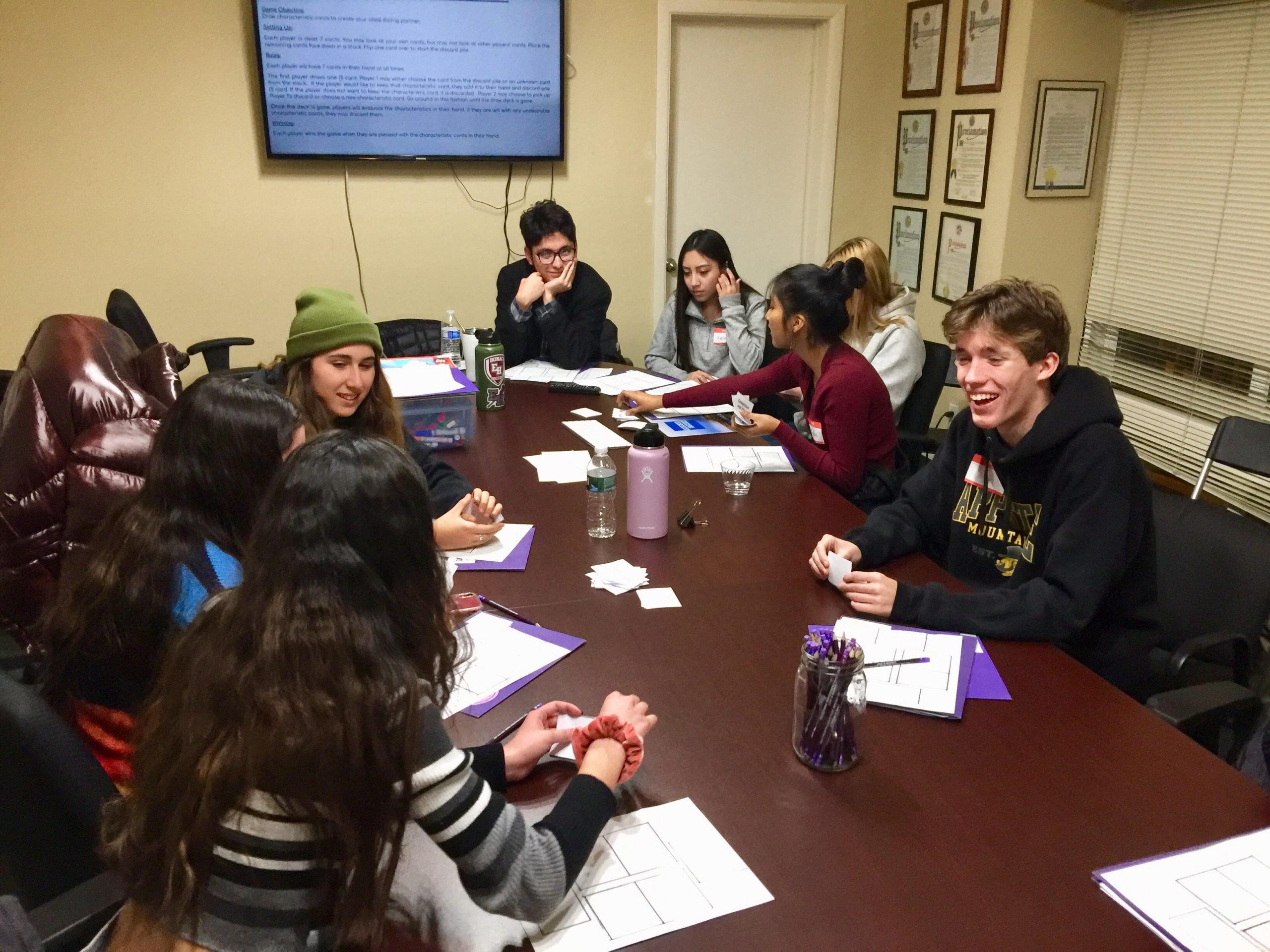 The East Hampton teen leadership team working with The Retreat prior to the Covid-19 virus outbreak.
