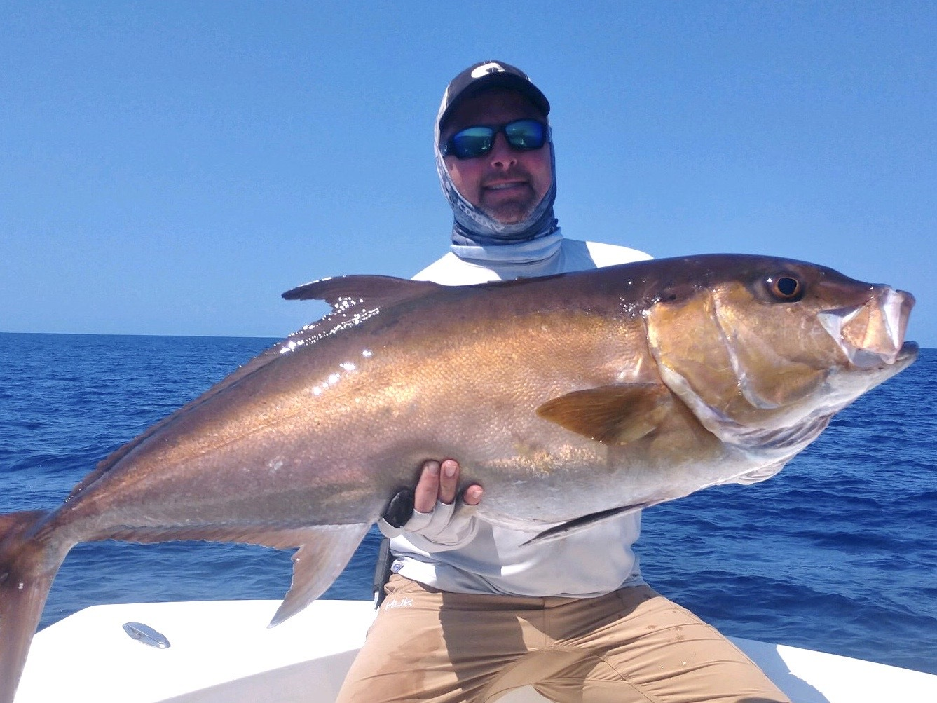 Chris Hatch tussled with this bruiser amberjack while fishing with a group of South Fork anglers in Panama last week.
