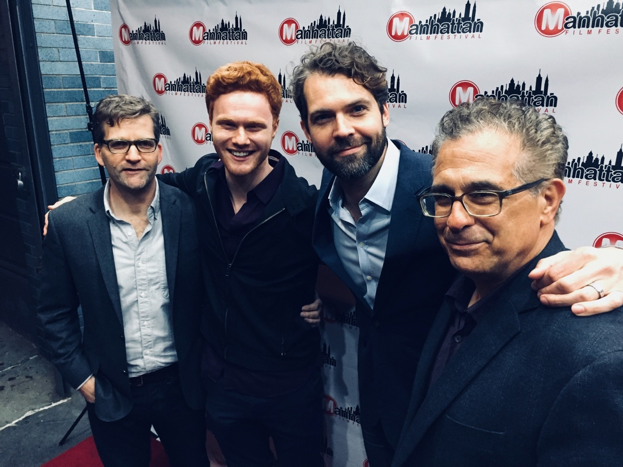From left, director and co-creator Shannon Goldman, actor Nicholas Barasch, actor Rob Hancock, and writer and co-creator Tony Spiridakis at the Manhattan Film Festival where