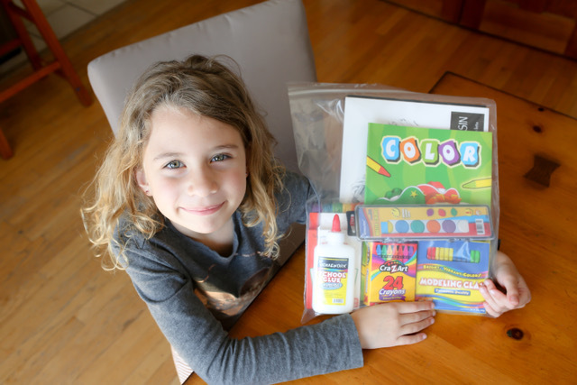 Tatyana, 7, of Water Mill can't wait to start creating.
