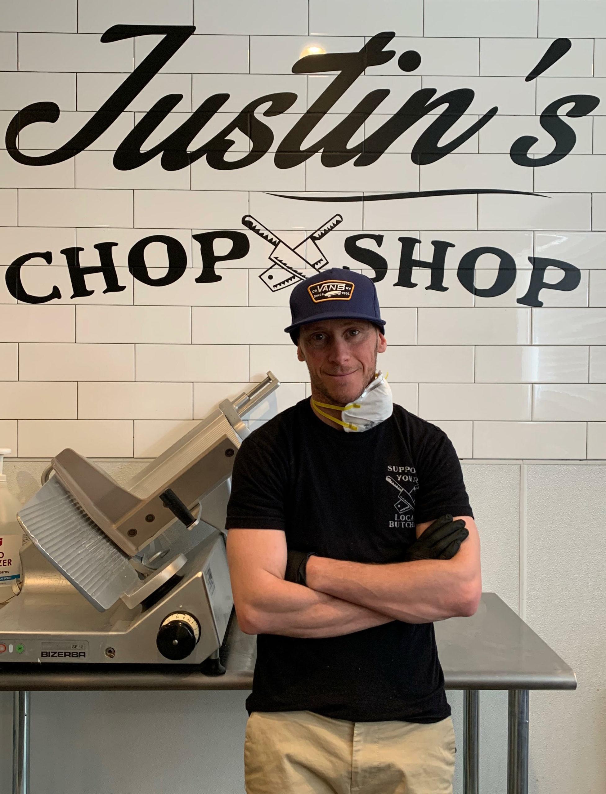 Justin DeMarco at Justin's Chop Shop.