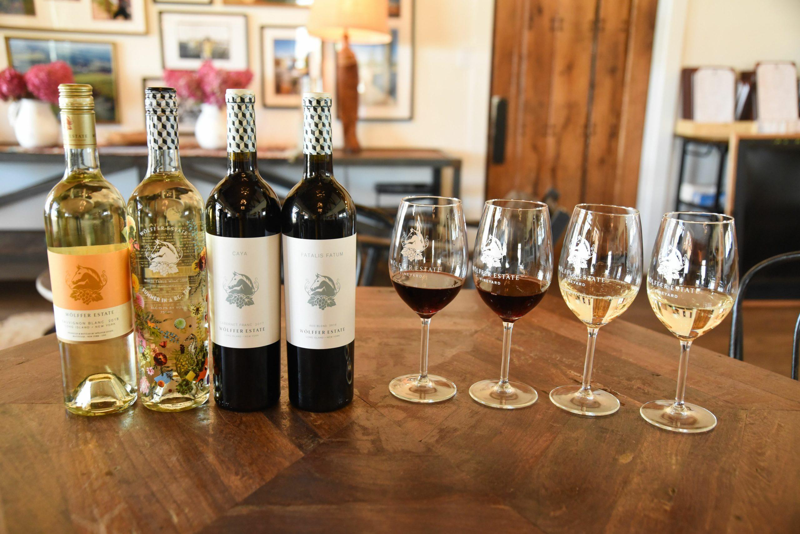 Wolffer Estate Vineyard's Grand Cru Tasting line-up.