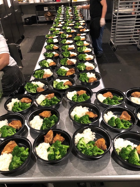 Meals are prepared for distribution to local food pantries. COURTESY HAMPTONS ART CAMP