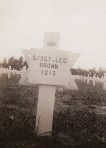 The grave of Leo Brown, who was killed in action on November 12, 1944.