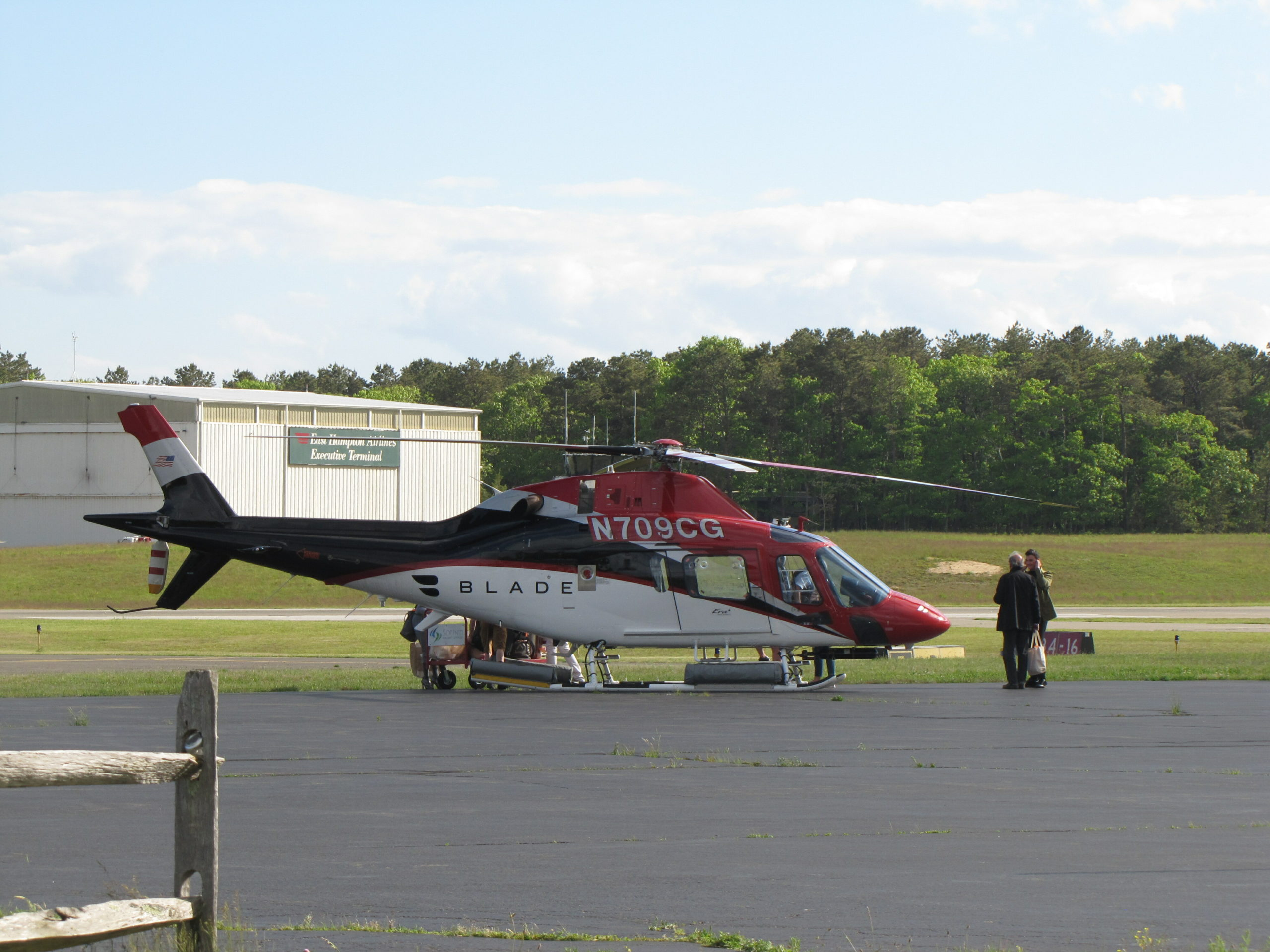 Helicopter traffic at East Hampton Airport was down 90 percent this past weekend and the commercial flight booking company Blade said it is transitioning away from helicopters both in response to the coronavirus epidemic and for the long term, to lessen noise impacts on residents.