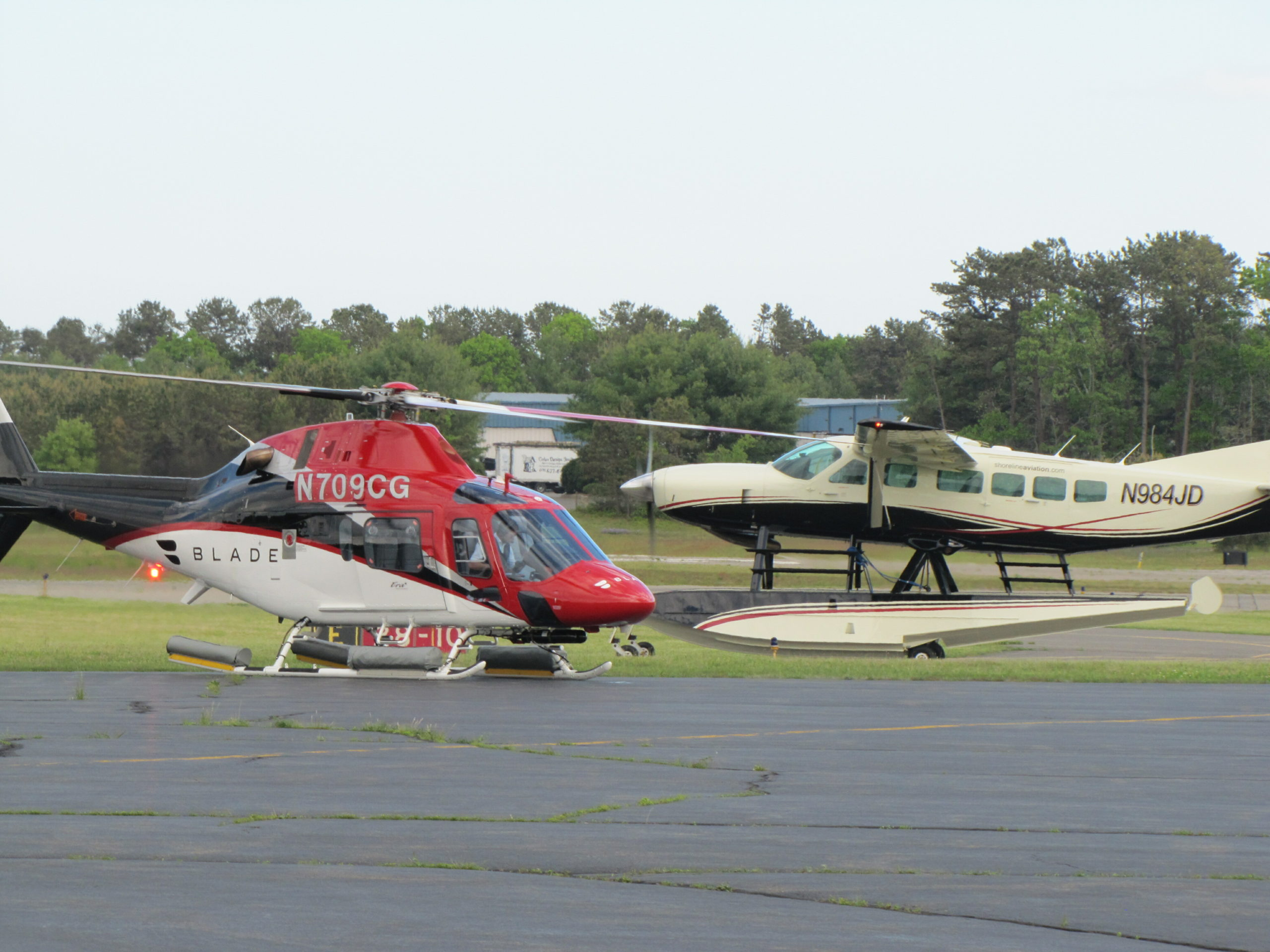 Helicopter traffic at East Hampton Airport was down 90 percent this past weekend and the commercial flight booking company Blade said it is shifting more of its Manhattan-to-East Hampton flights from helicopters to seaplanes, both in response to the coronavirus epidemic and for the long term to lessen noise impacts.