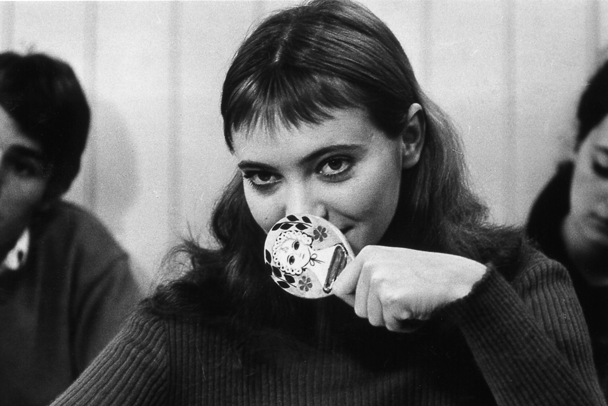 """Still from Jean-Luc Godard's 1964 film """"Band of Outsiders."""""""