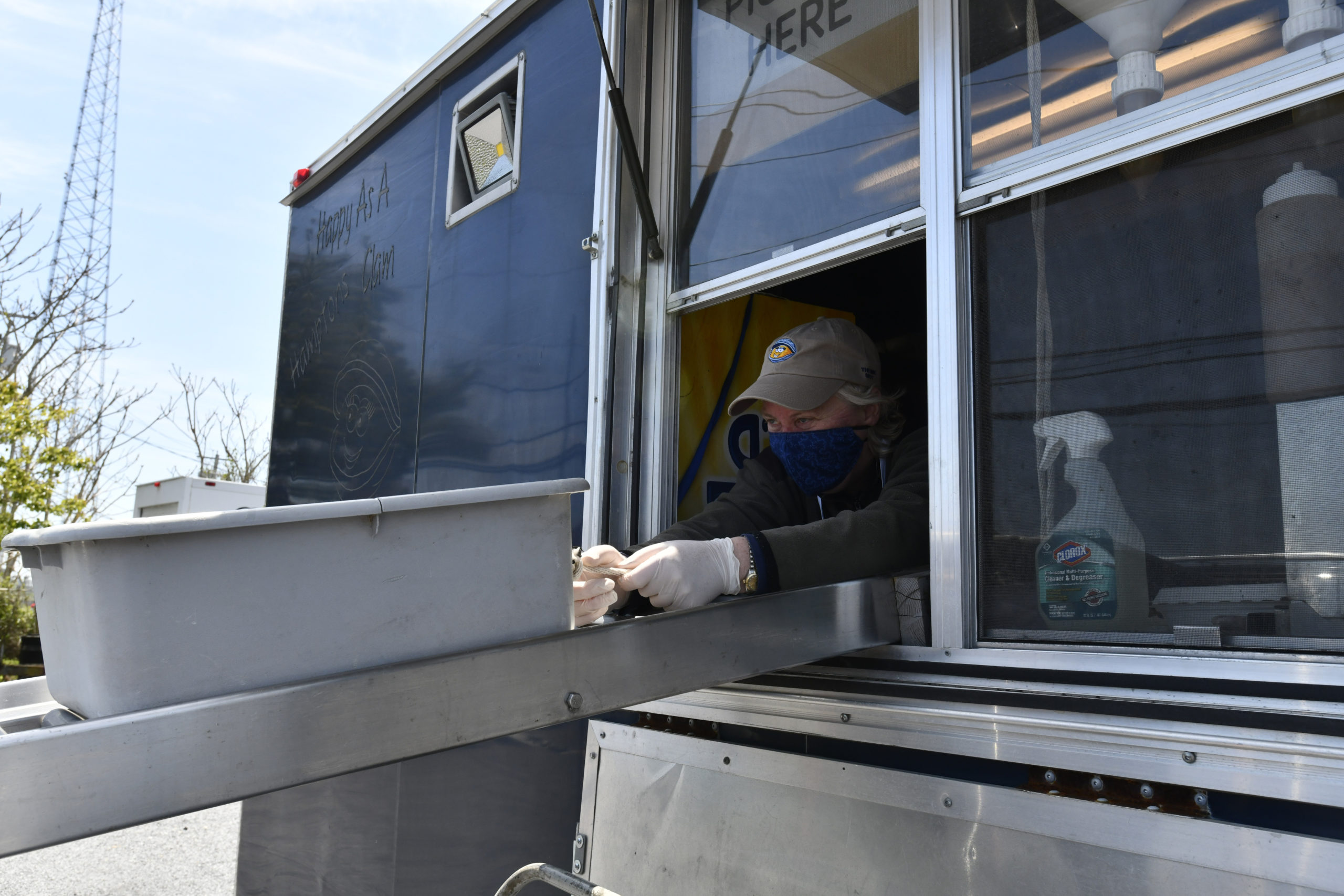 Chef Pamela Wolfert in the In Spot on the Bay's food truck in Hampton Bays.   DANA SHAW