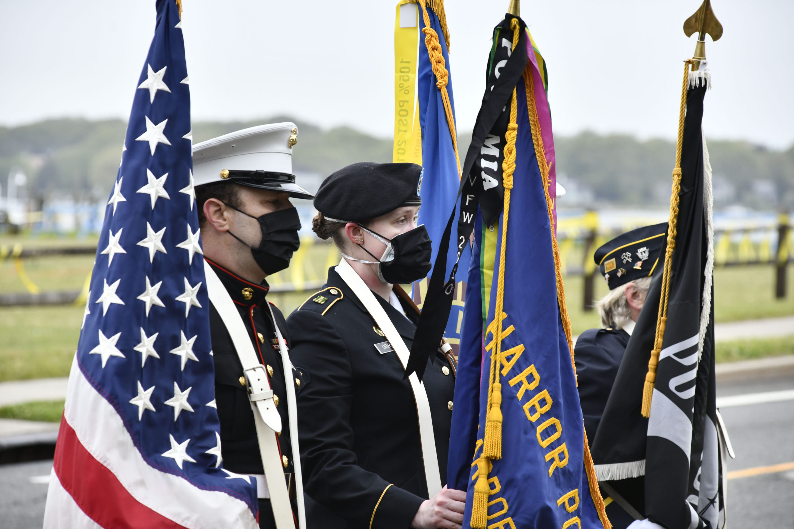 Memorial Day observances in Sag Harbor on Monday.