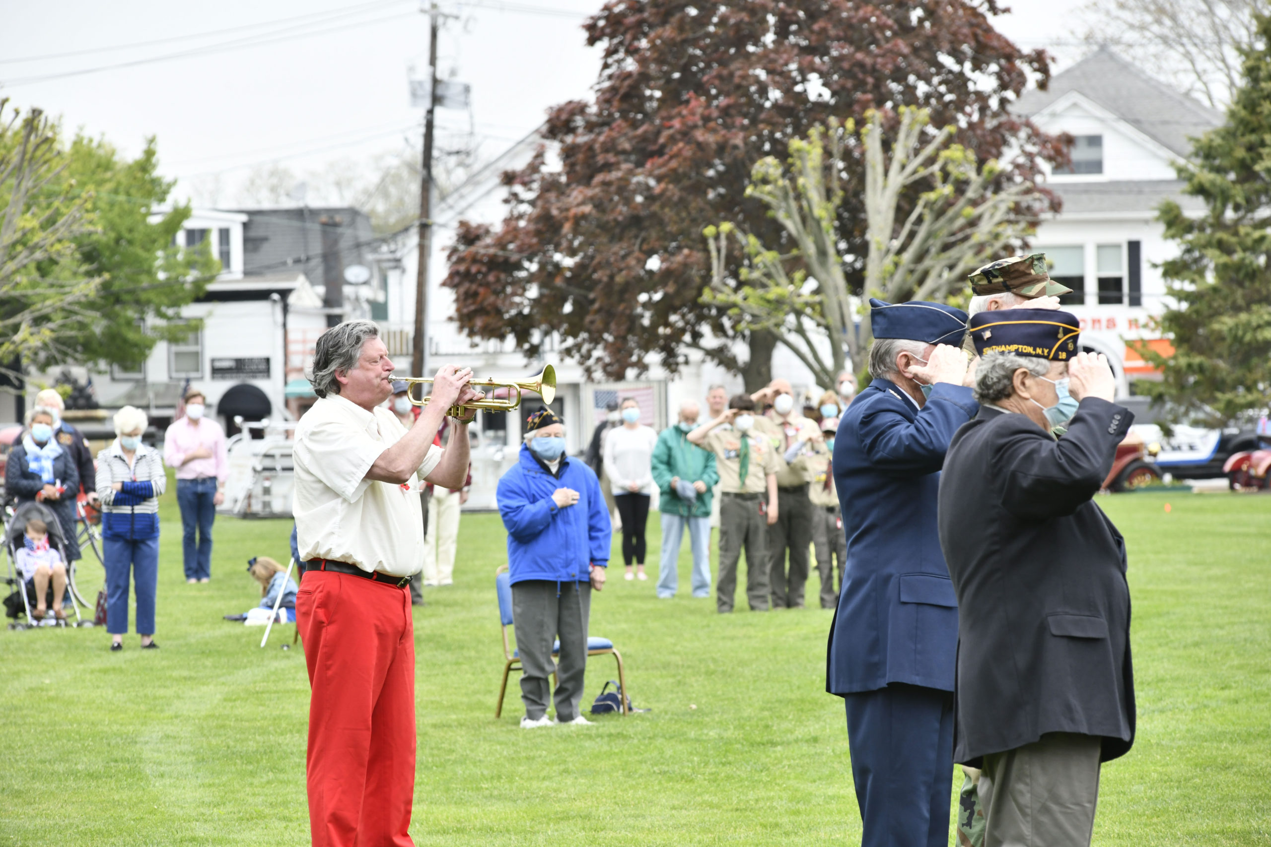 Memorial Day observances in Agawam Park in Southampton Village on Monday.