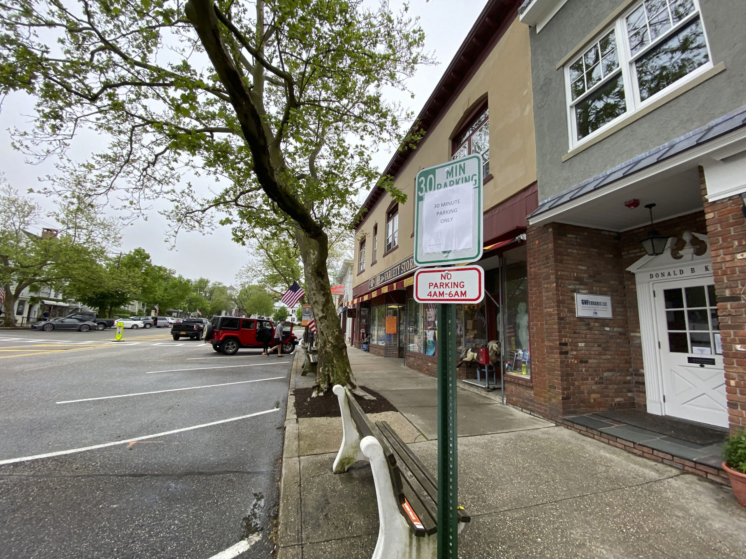 Sag Harbor Village Mayor Kathleen Mulcahy signed an executive order Friday limiting parking on Main Street to 30 minutes for the duration of Memorial Day weekend in order to promote social distancing in the village.    DANA SHAW