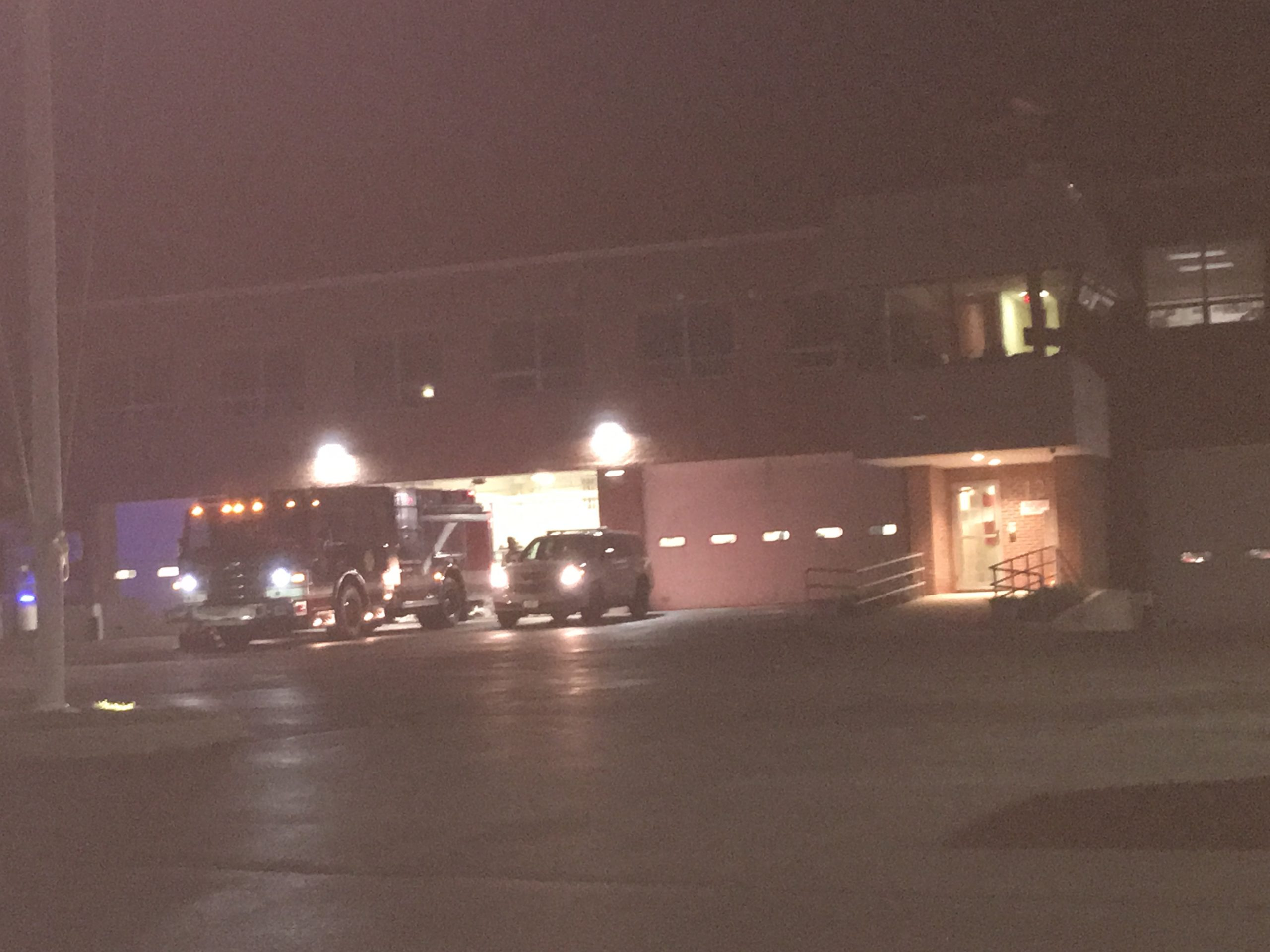 Fire departments waiting at the Montauk Fire Department headquarters.