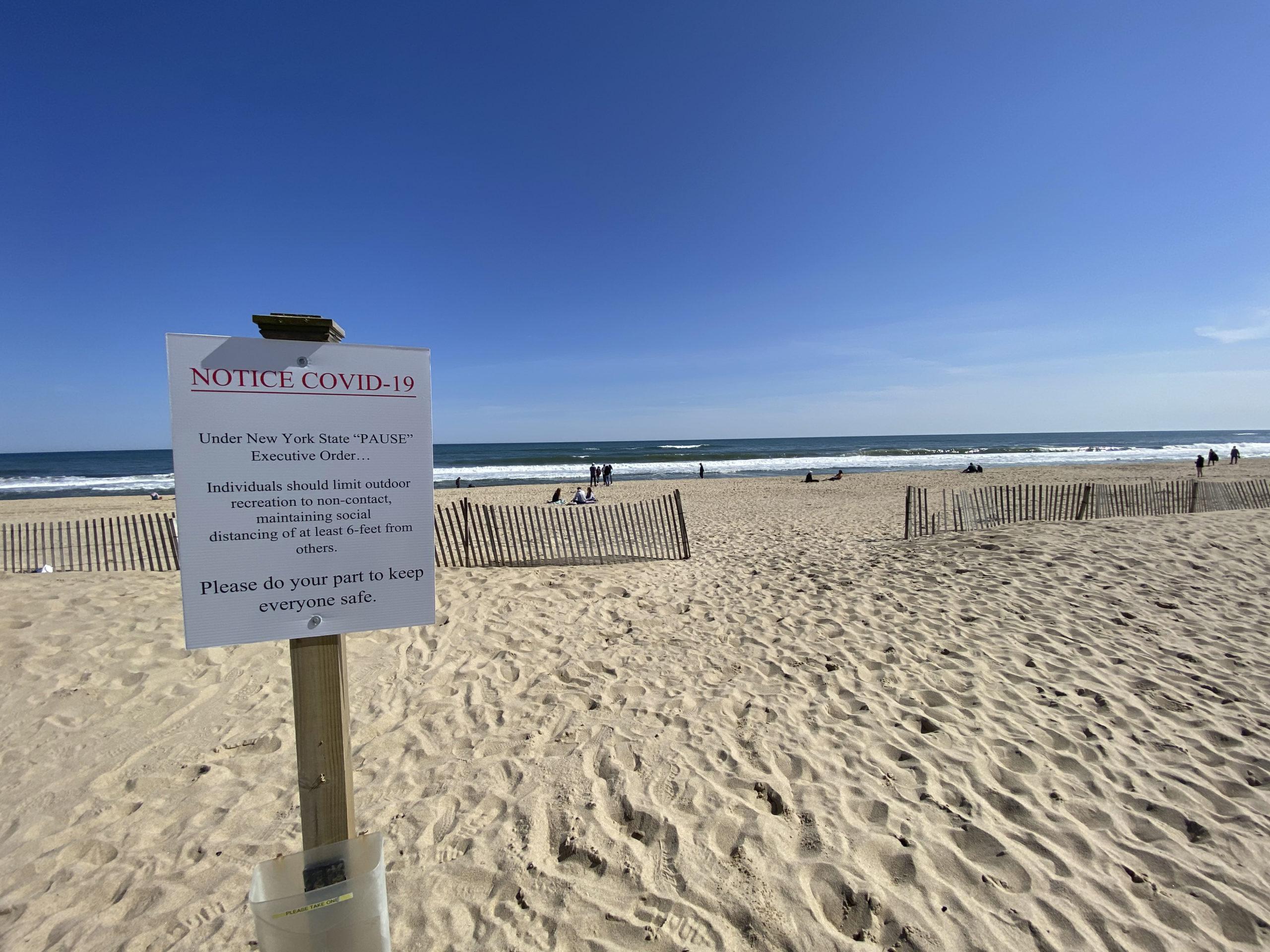 Main Beach in East Hampton.  DANA SHAW