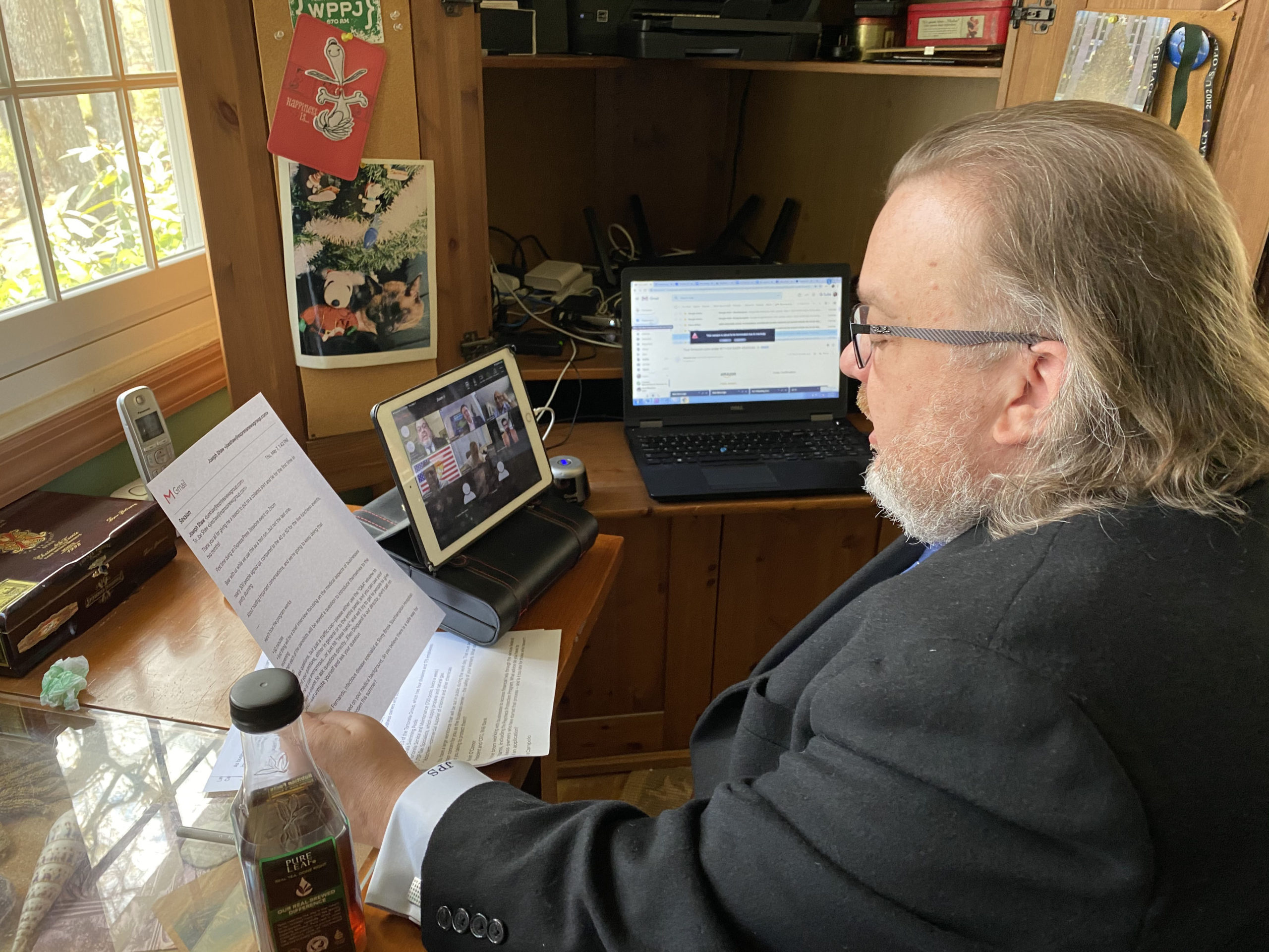 Moderator Joe Shaw during the Express Virtual Session.