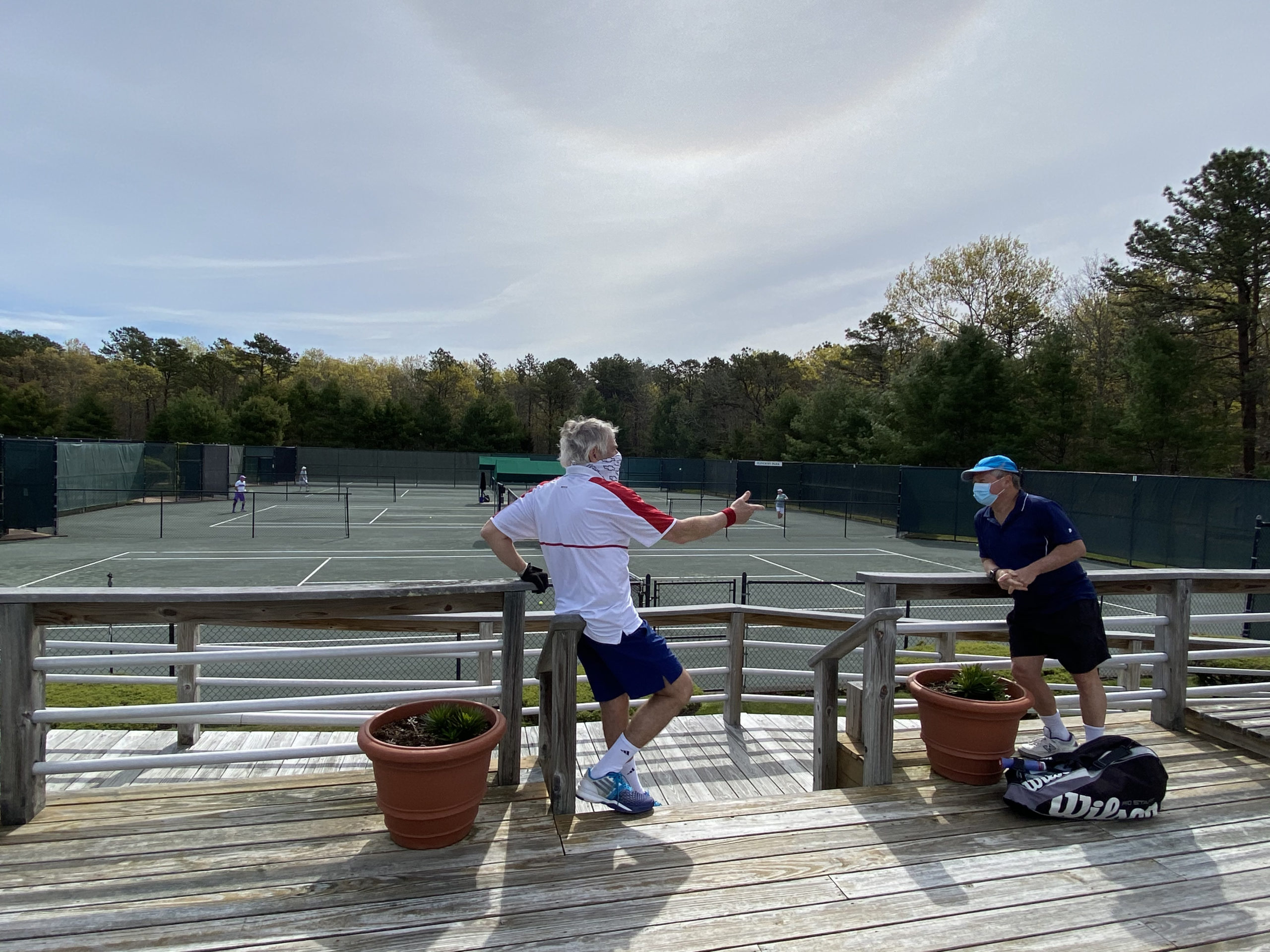 Tennis enthusiasts were back on the courts at East Hampton Indoor Tennis on Saturday morning.  DANA SHAW