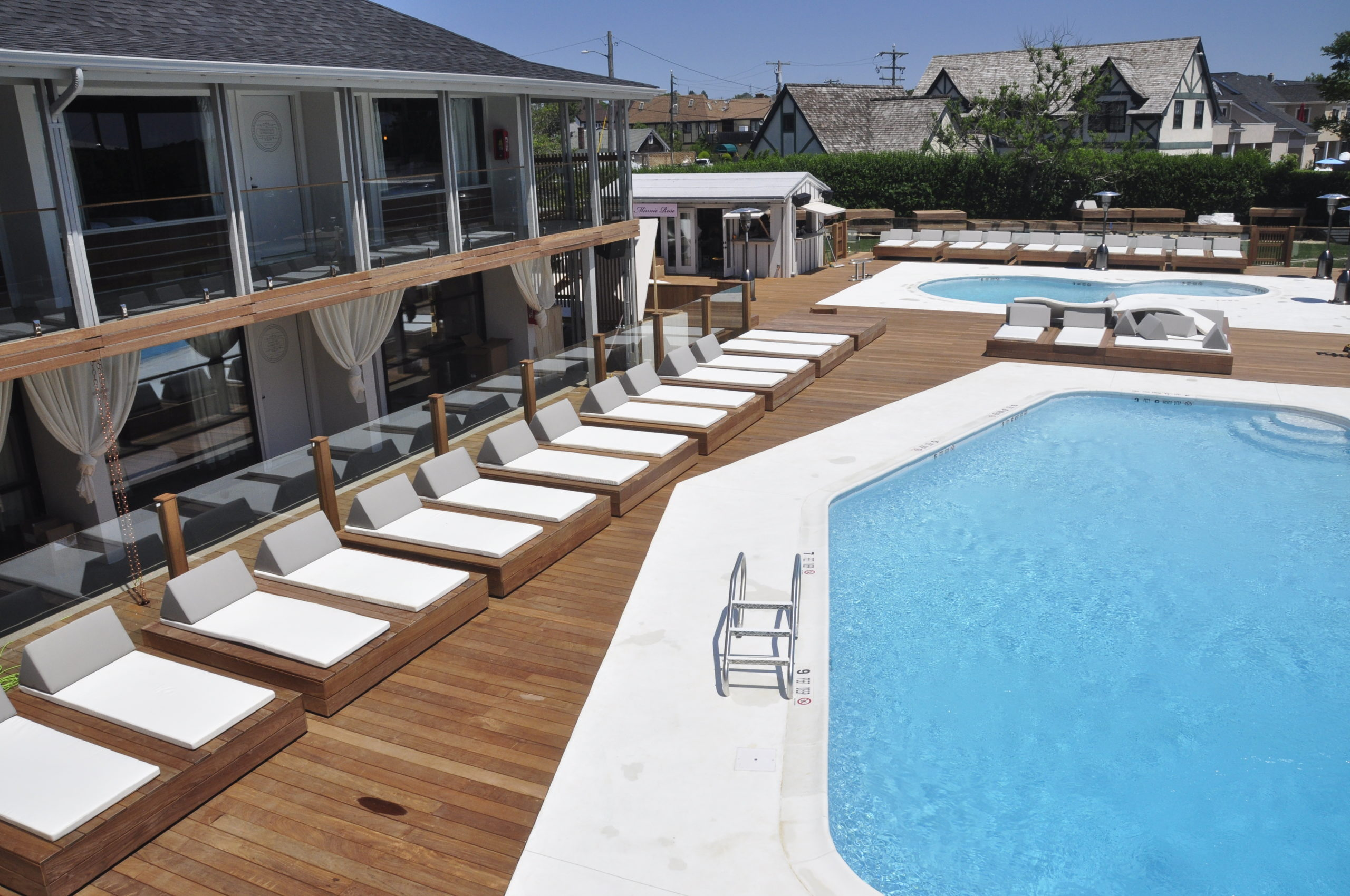 The pool at the Montauk Beach House.  PRESS FILE
