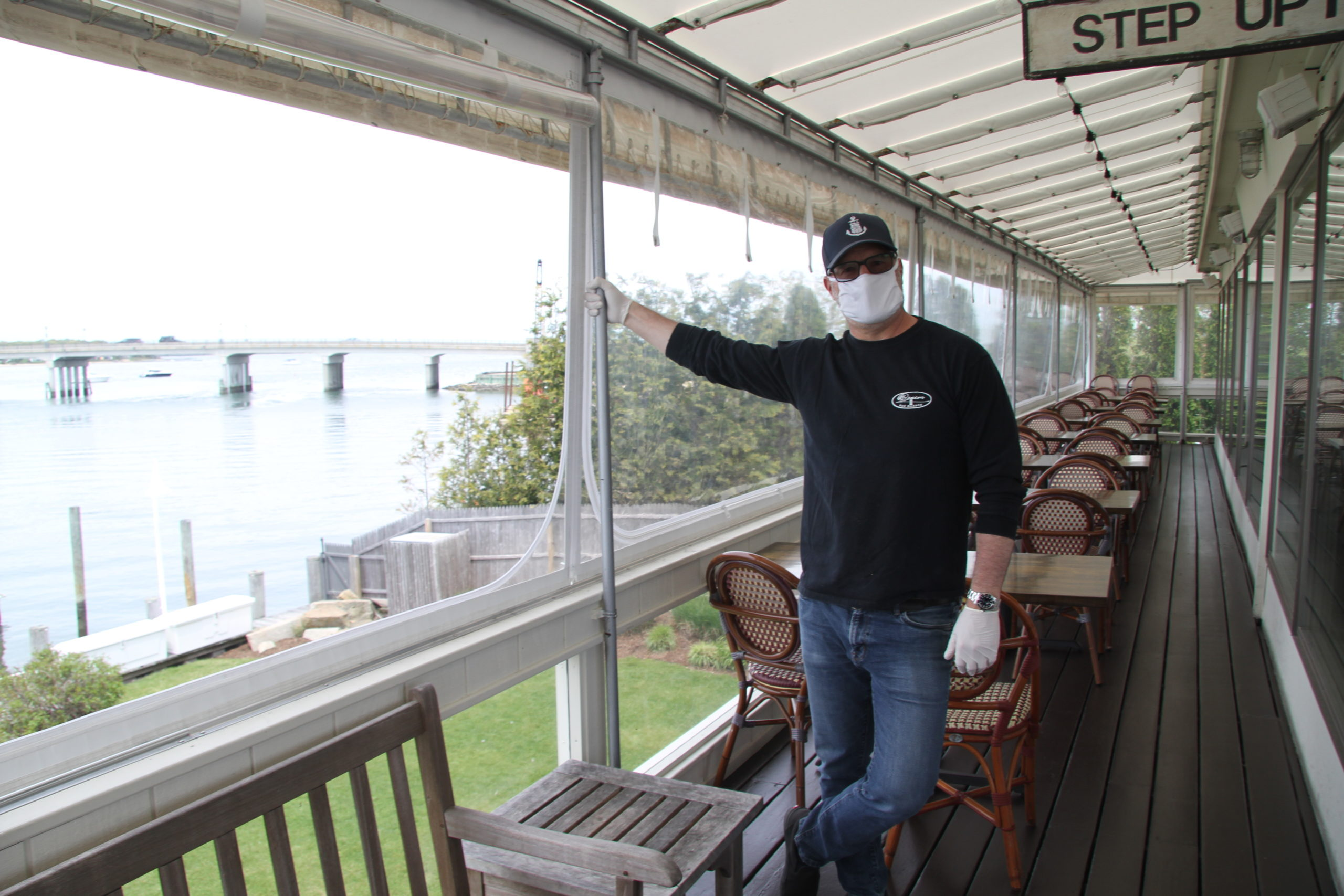Restaurant owners like David Lowenberg, at The Beacon in Sag Harbor, are wrestling with difficult business model calculations even once the state allows them to open for dine-in service again.