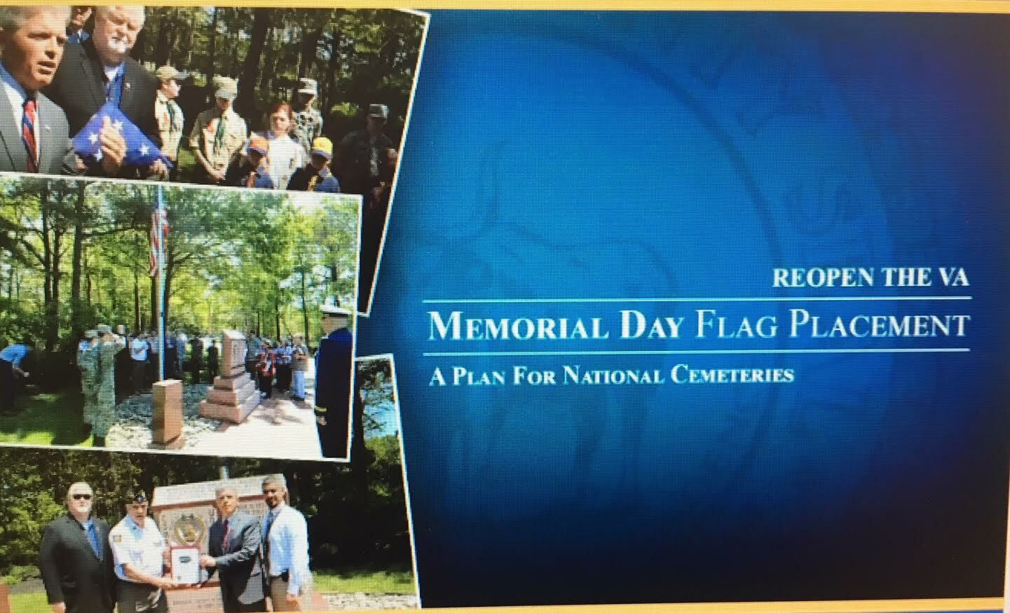 Suffolk County has crafted a plan for safe placement of flags at cemeteries.