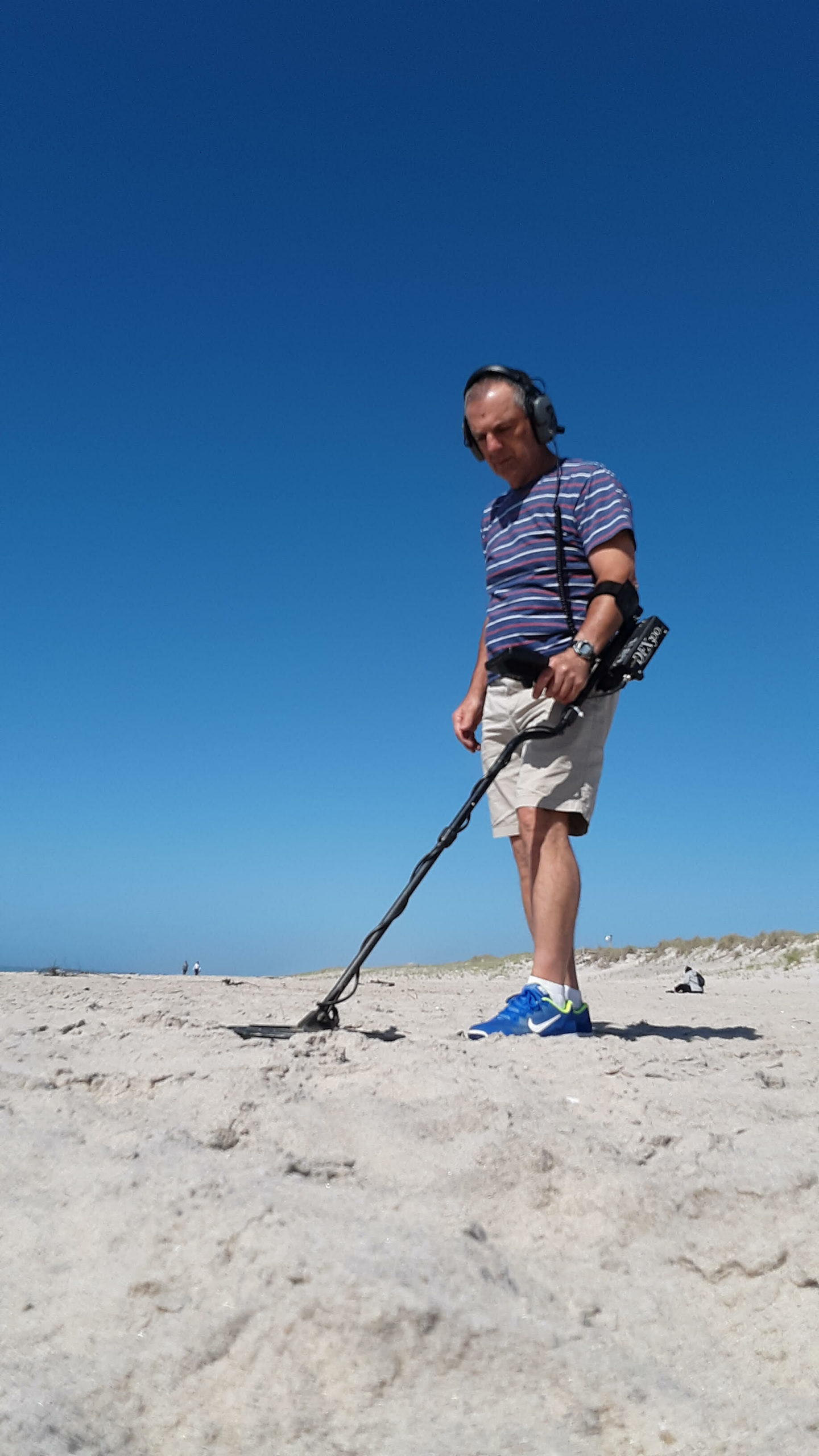 Metal detector enthusiast Peter Zegler