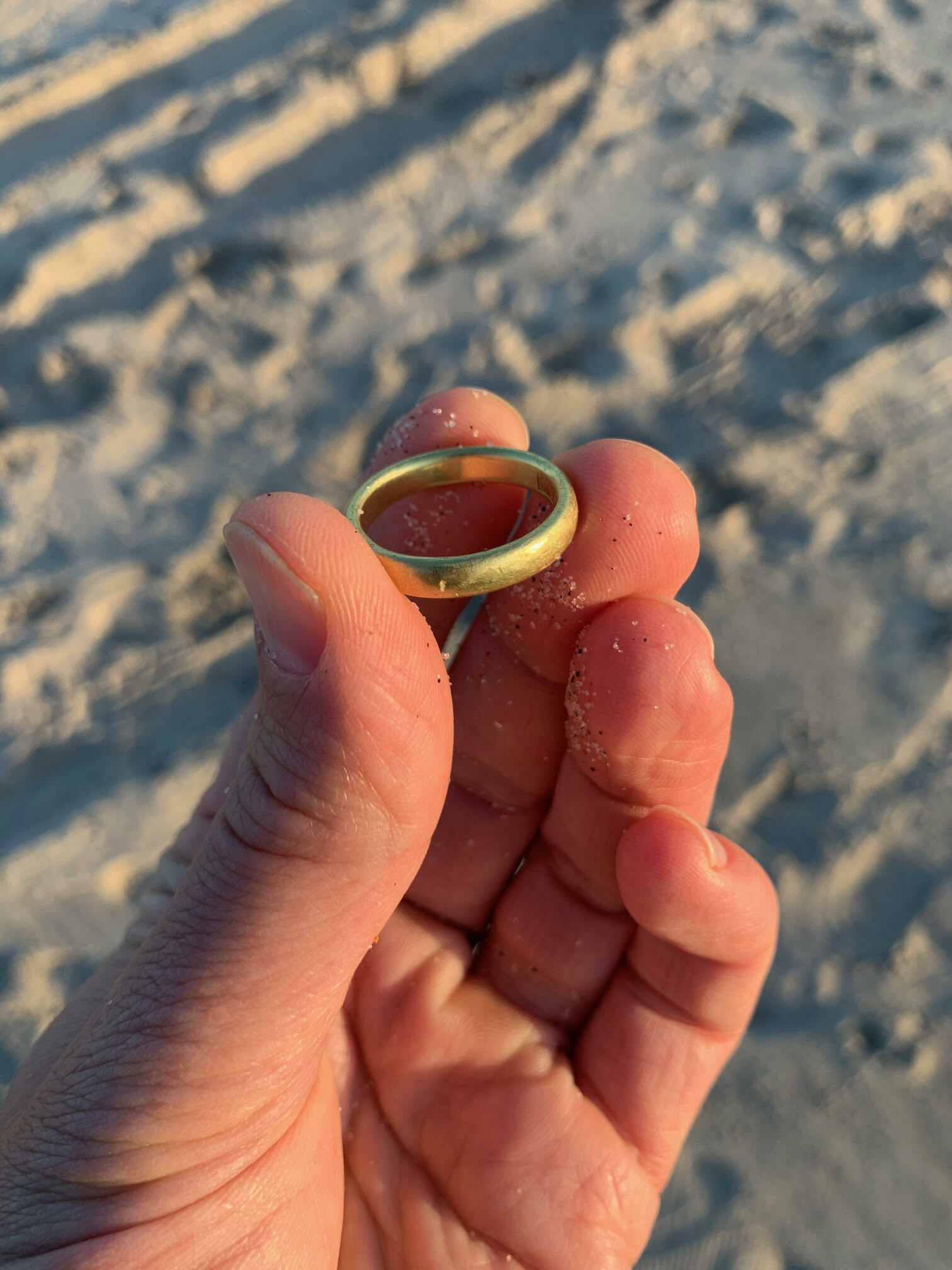 The found wedding ring.