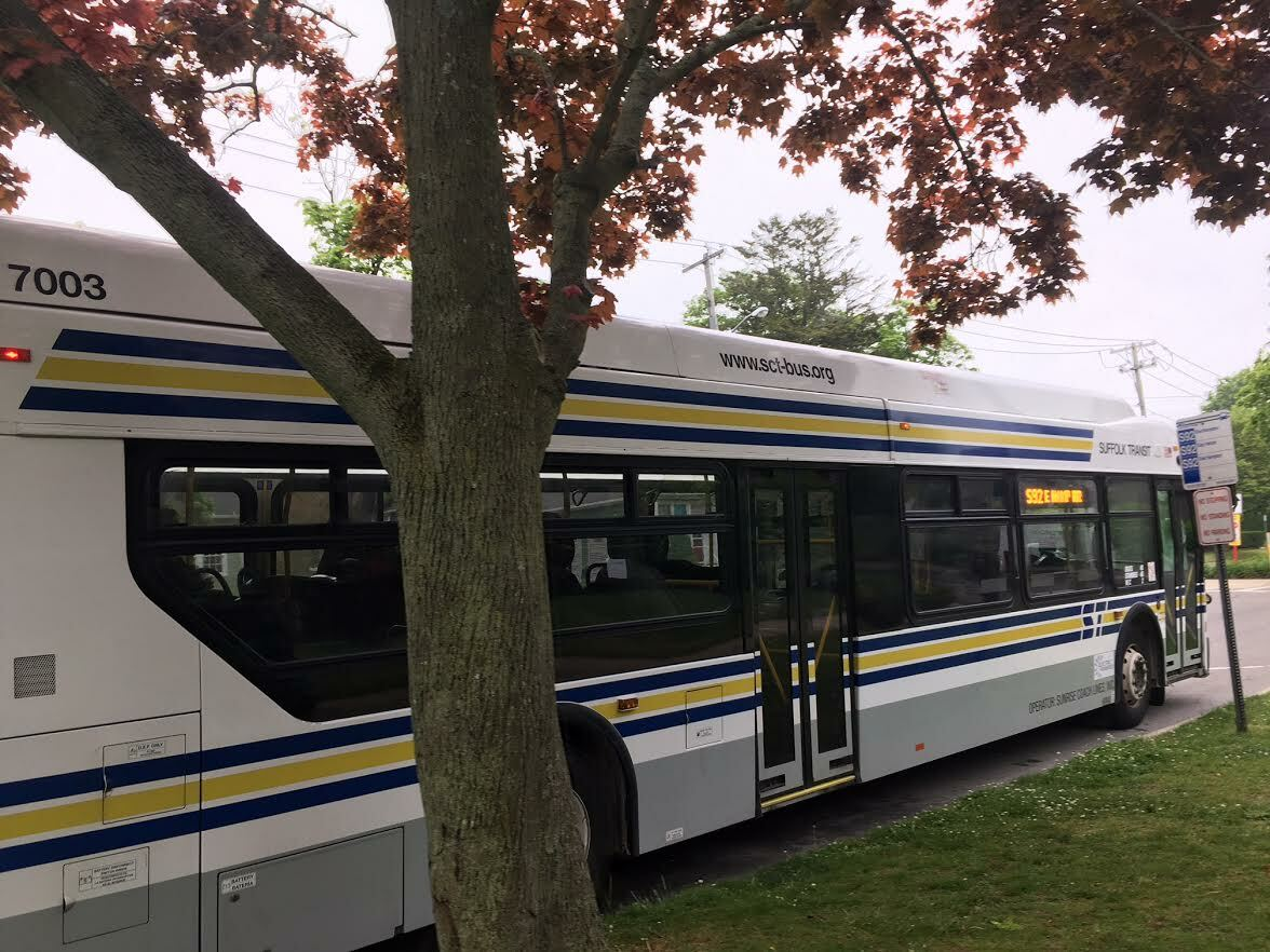 Thanks to a multimillion dollar grant from U.S. Department of Transportation's Federal Transit Administration, Suffolk County's buses will keep rolling. KITTY MERRILL
