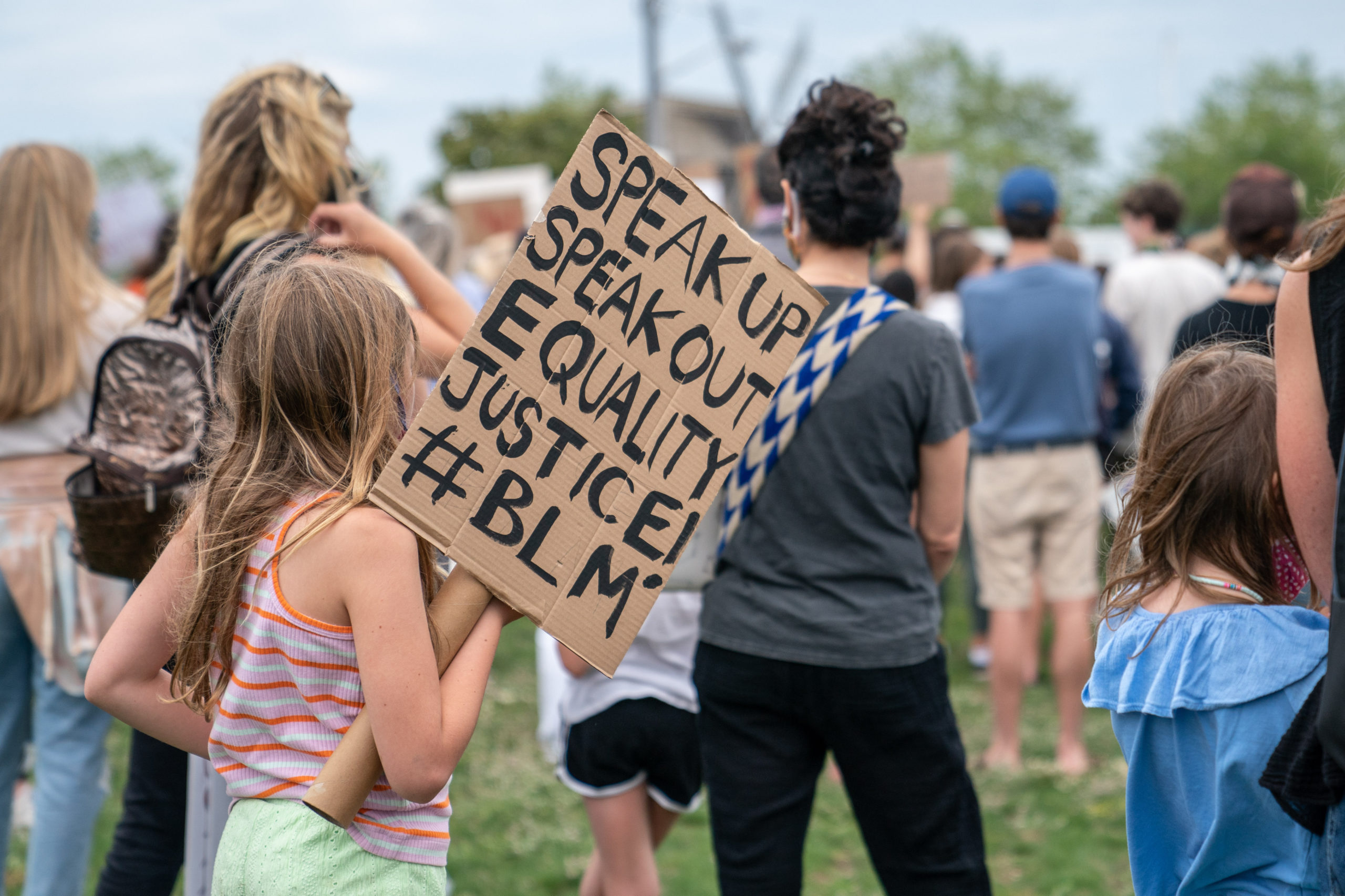 Hundreds of people participated in a protest on Friday in Sag Harbor against police brutality and racism.