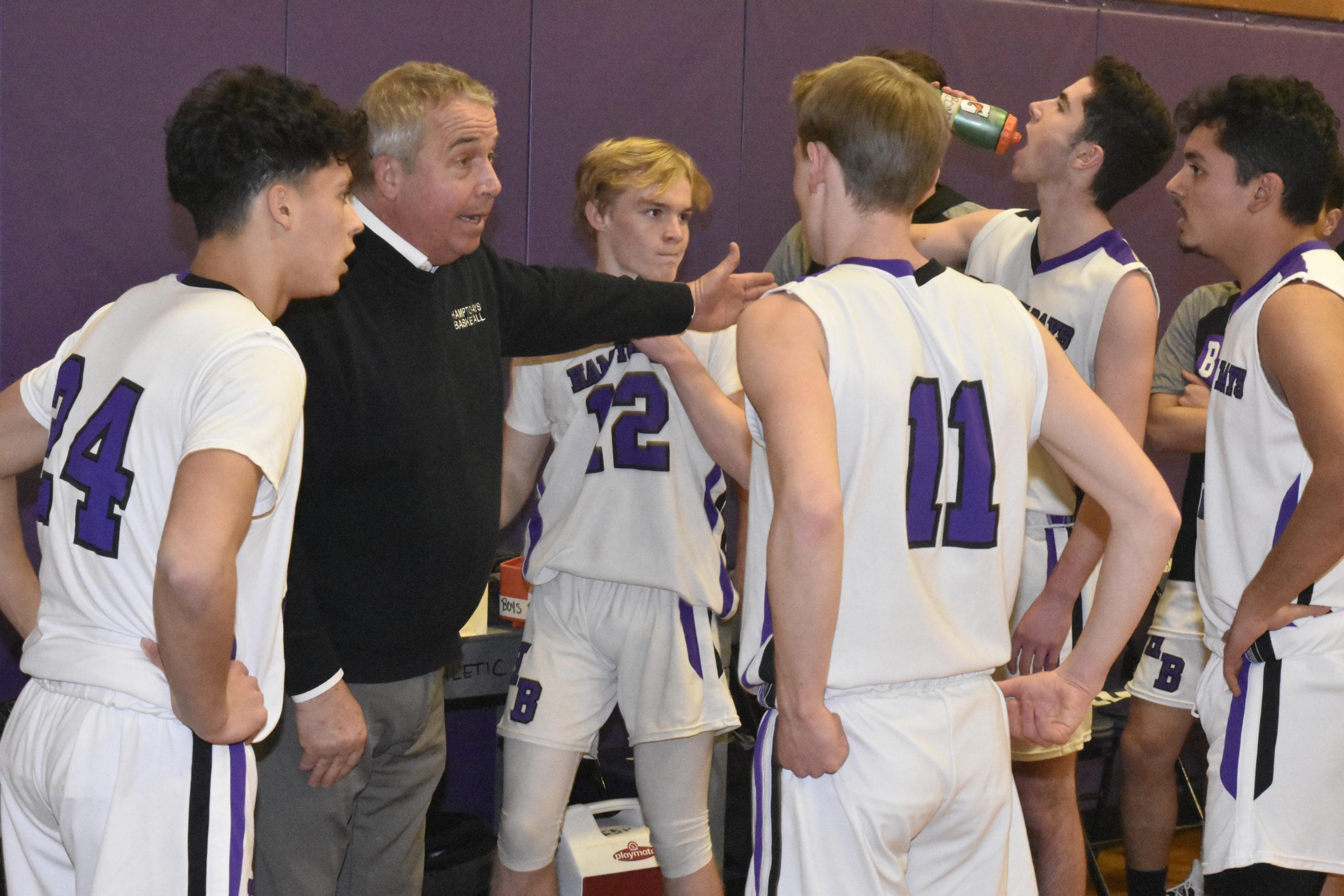 Hampton Bays head coach Pete Meehan.    PRESS FILE