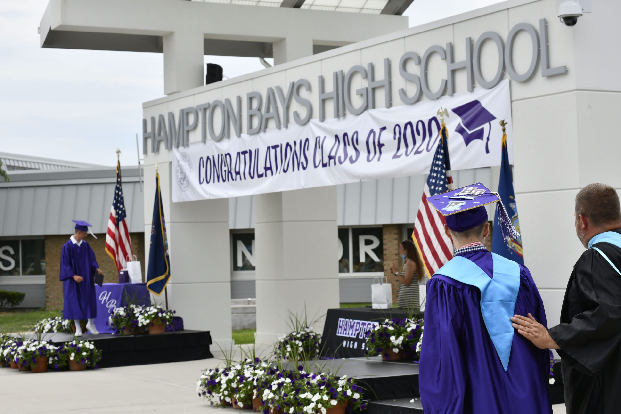 Hampton Bays Class of 2020 graduation on Saturday.