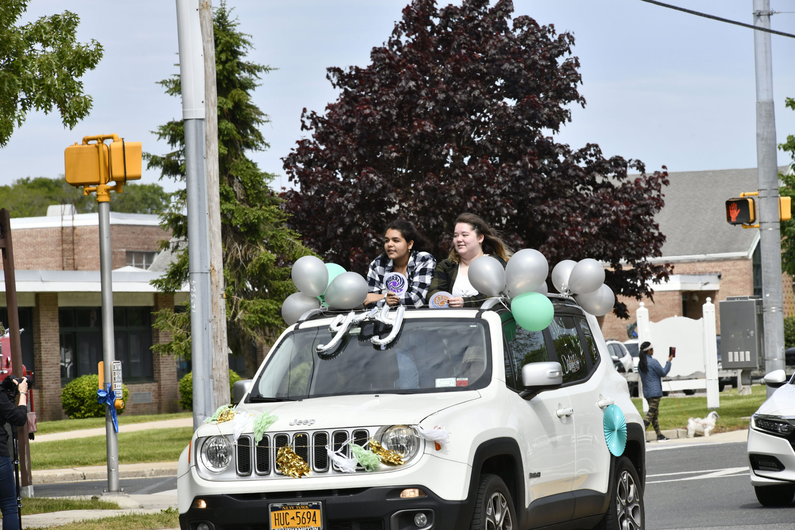 Westhampton Beach High School hosted the senior parade celebrating the Class of 2020 on Tuesday morning.