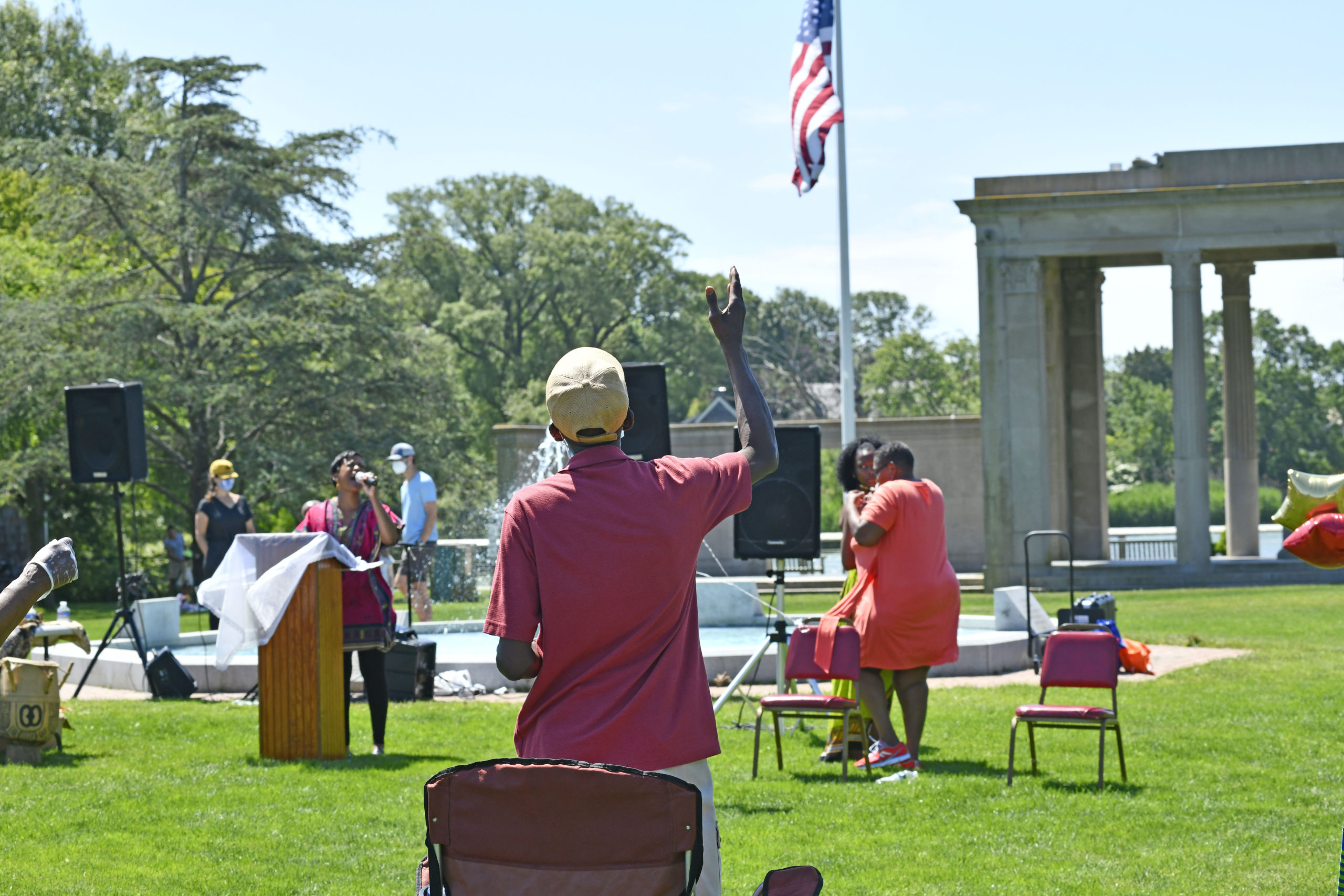A Juneteeth celebration was held in Agawam Park on Friday with speakers, music and food. Originating in Texas, Juneteenth is now celebrated annually on the 19th of June and commemorates Union army general Gordon Granger announcing federal orders in Galveston on June 19, 1865, stating that all slaves in Texas were free. DANA SHAW
