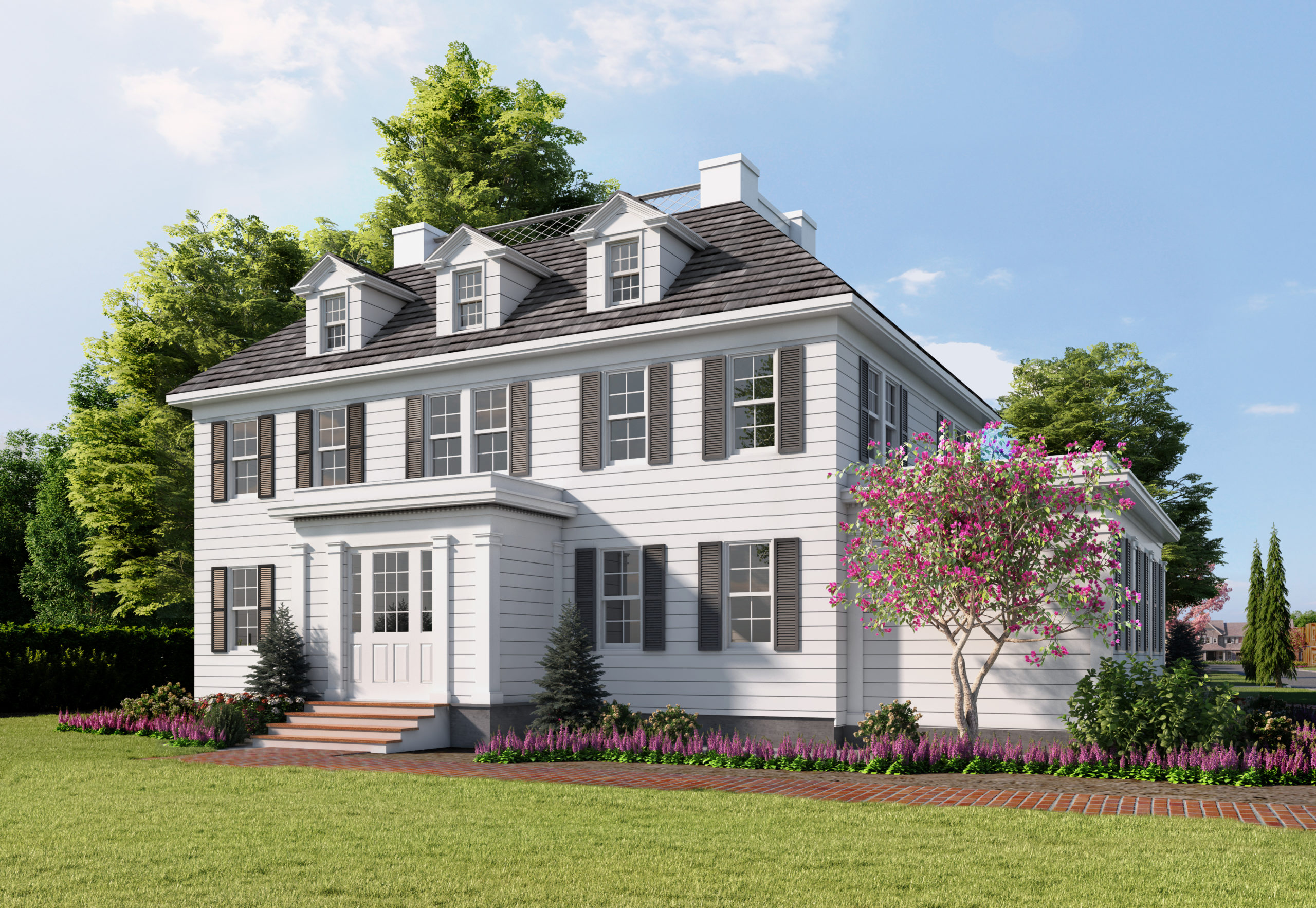 A rendering of the Terry Cottage, postrenovation.