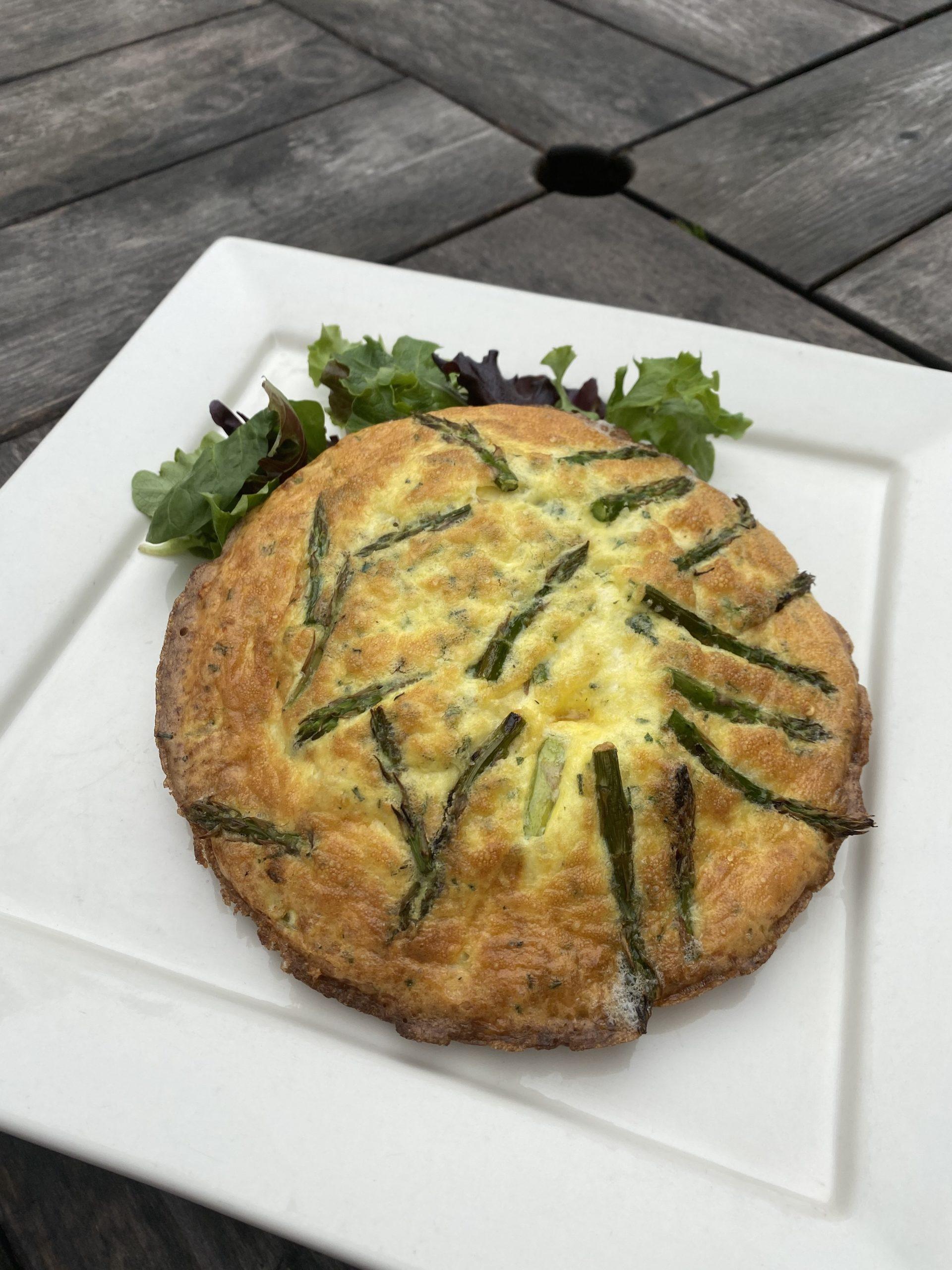 The asparagus fritatta from The Mill House Inn.