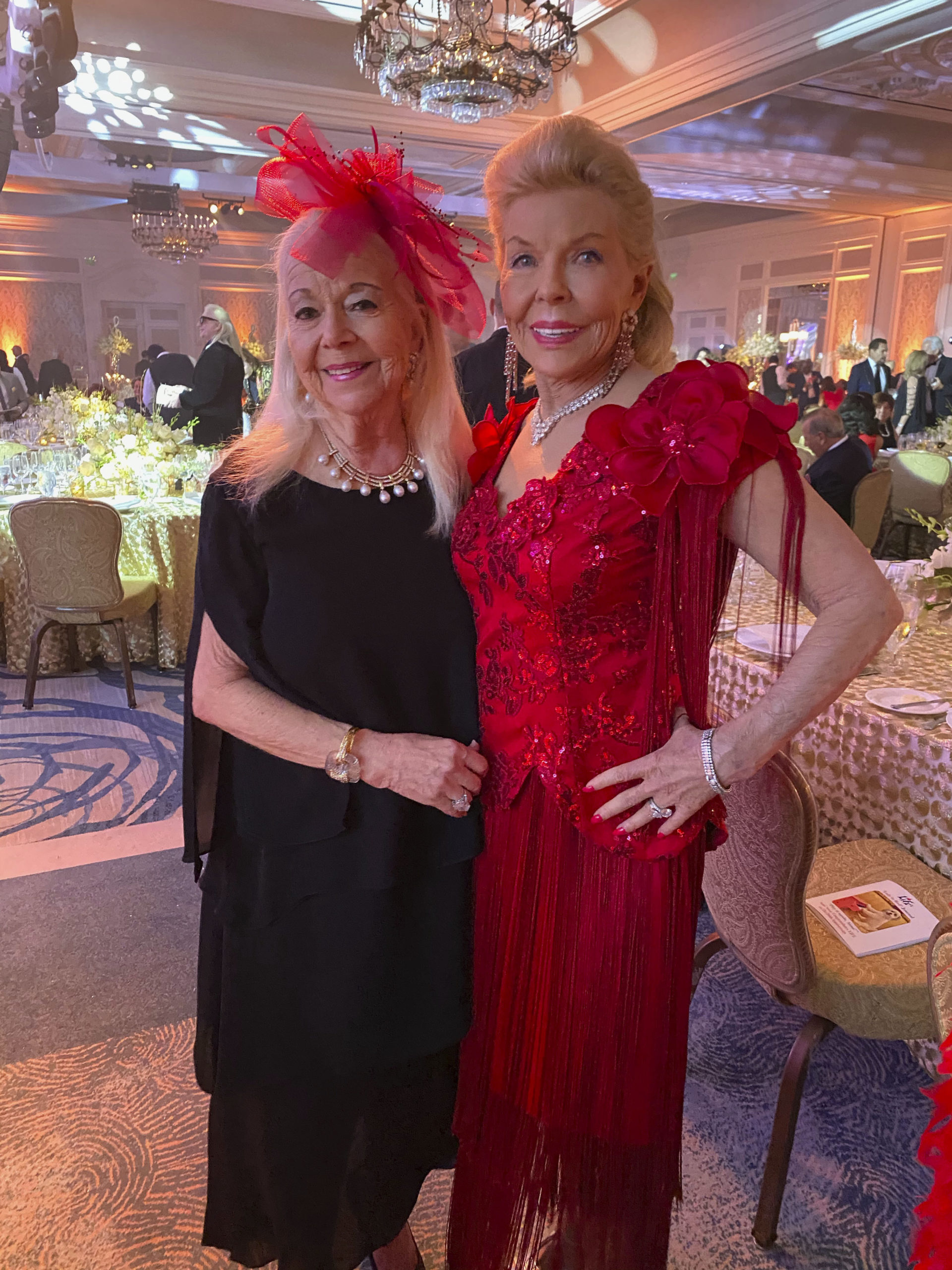 Arlette Gordon and Lois Pope at the Lady in Red Gala.