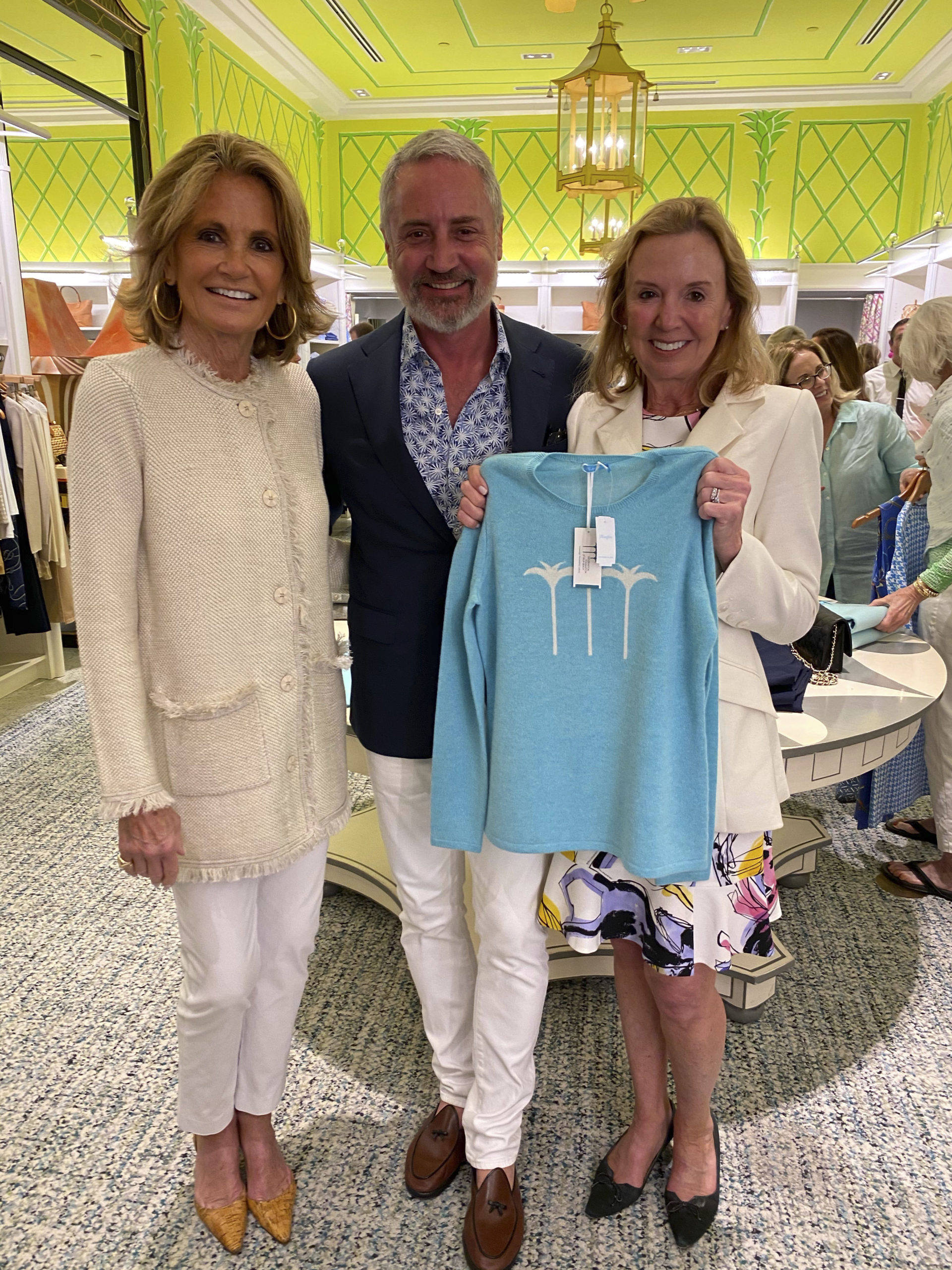 Grace Meigher, Jack Lynch and Susan Cowie at the J. McLaughlin store event.