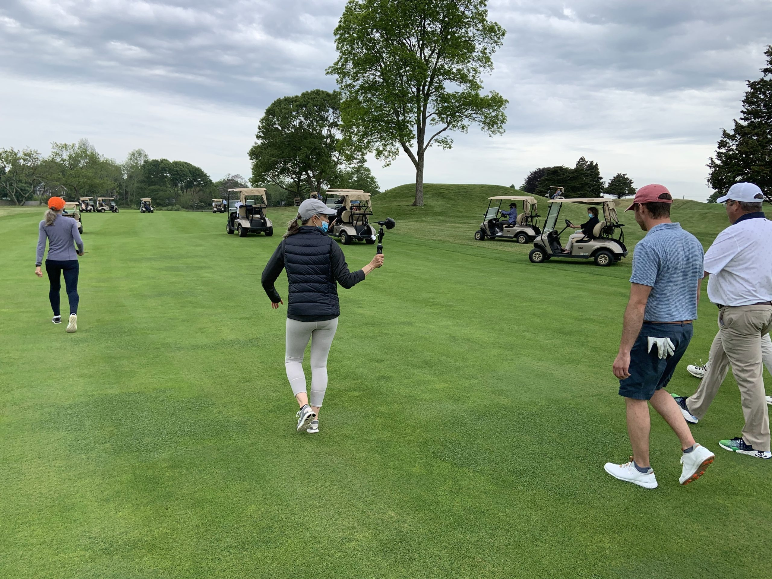 The South Fork Country Club in Amagansett raised over $115,000 for the East Hampton/Amagansett and Springs food pantries in a charity golf match on Friday.  GABRIELA CARROLL